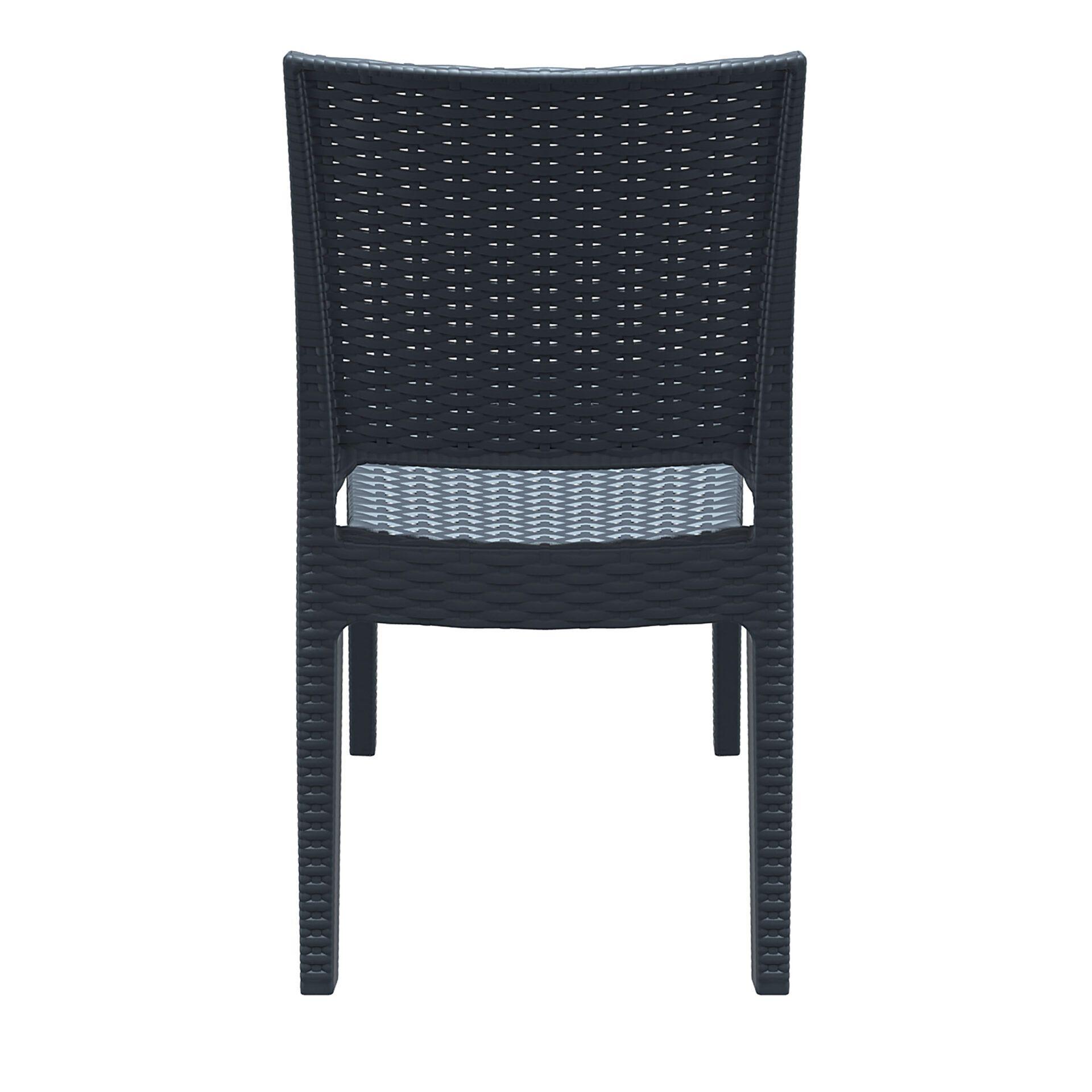 resin rattan dining florida chair darkgrey back
