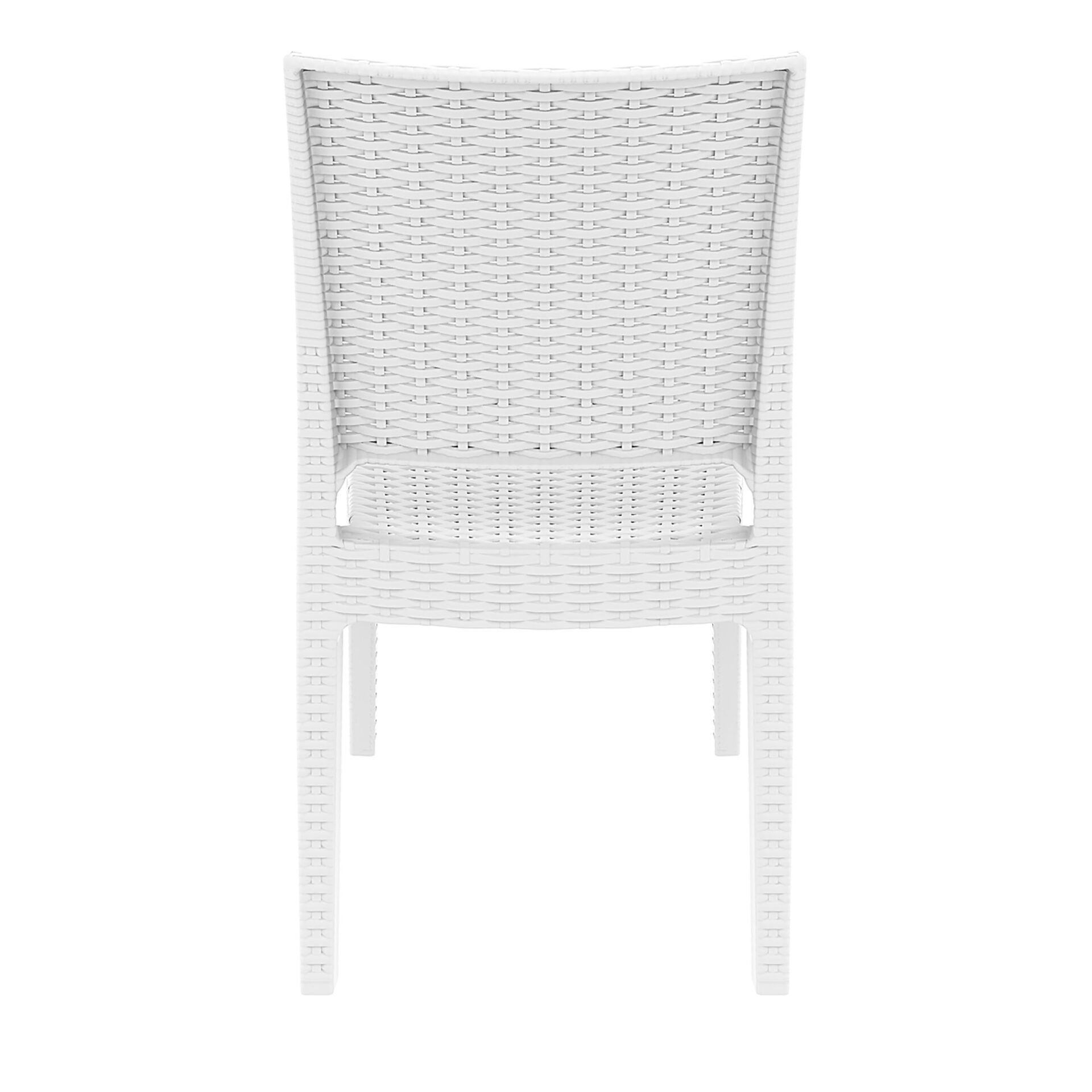 resin rattan dining florida chair white back