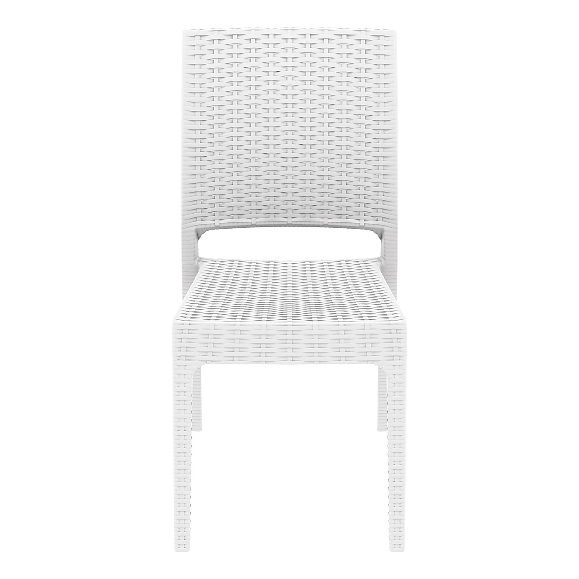 resin rattan dining florida chair white front