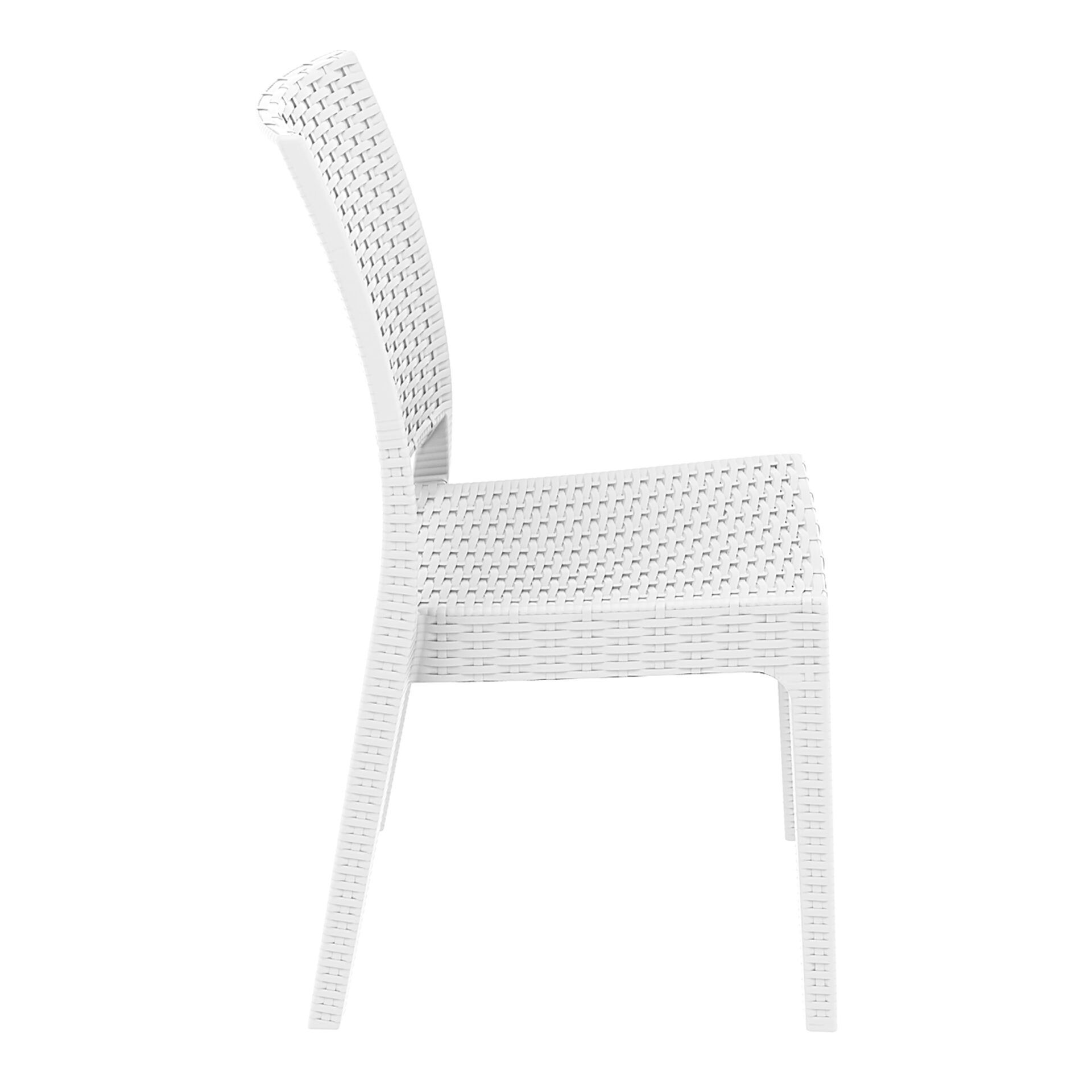 resin rattan dining florida chair white side