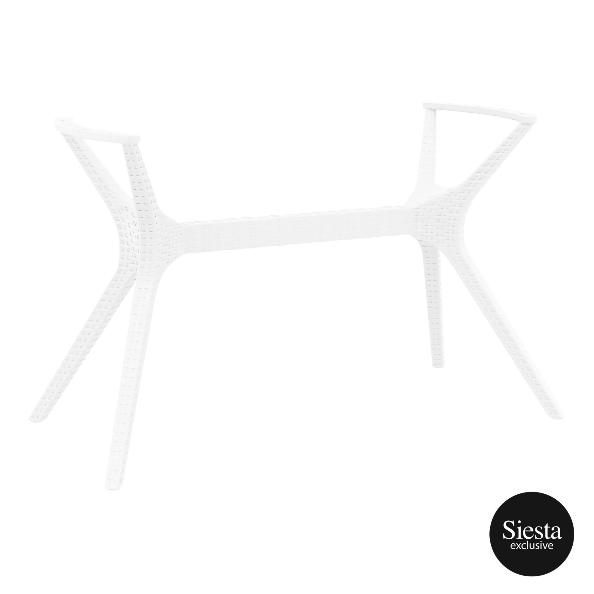 resin rattan ibiza legs medium white front side 1
