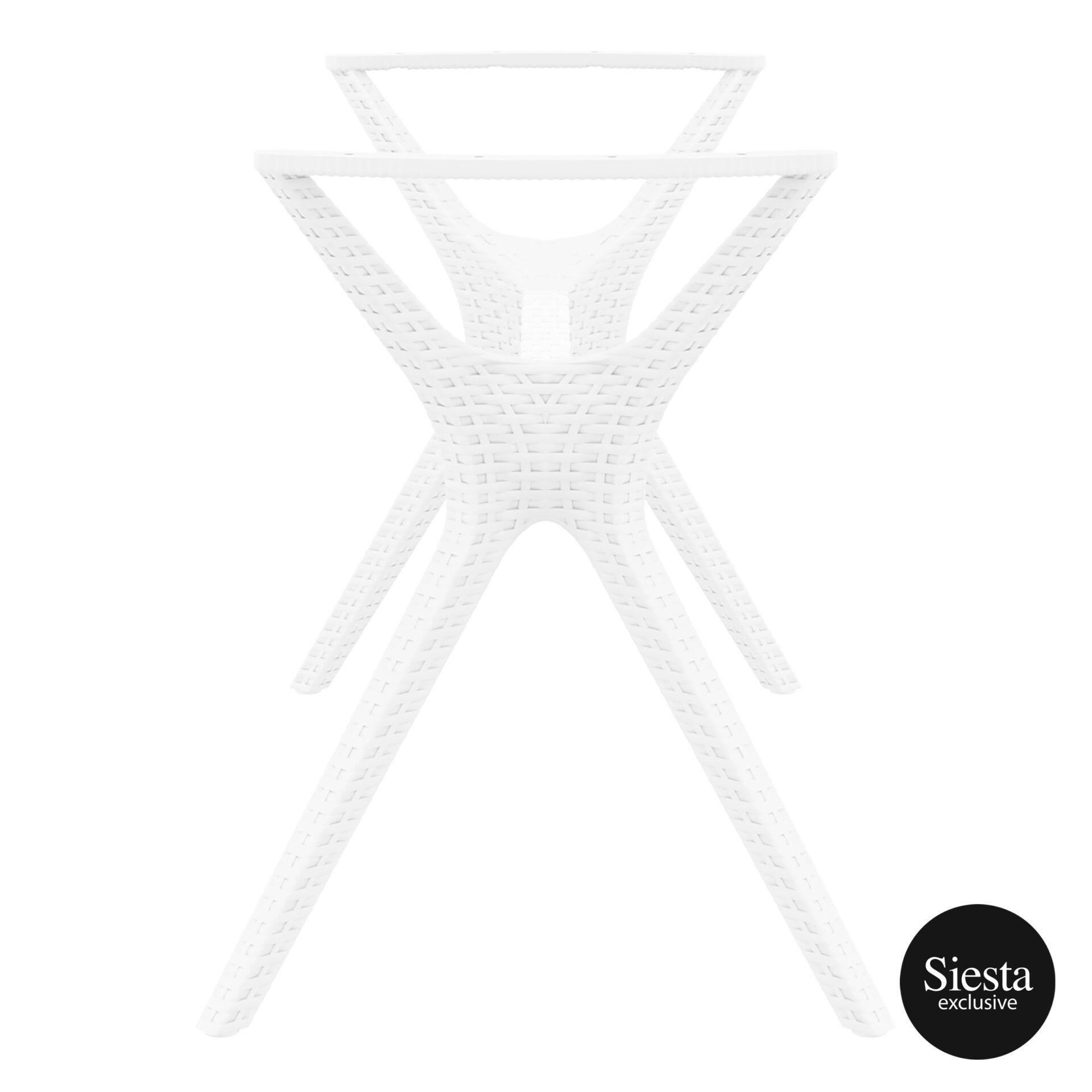 resin rattan ibiza legs medium white short edge 1