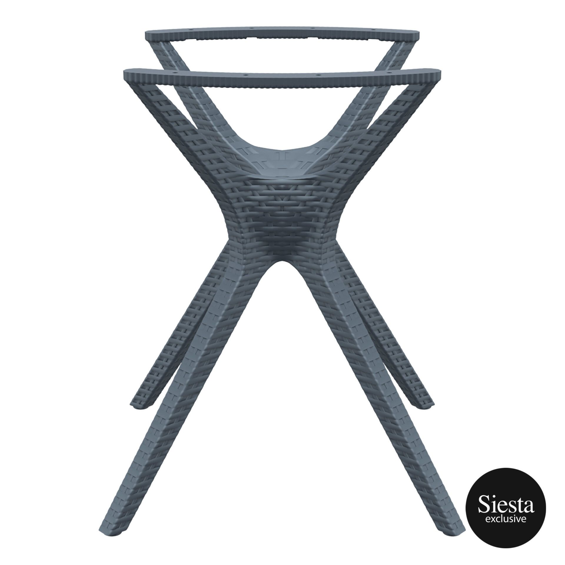 resin rattan ibiza legs small darkgrey side 1