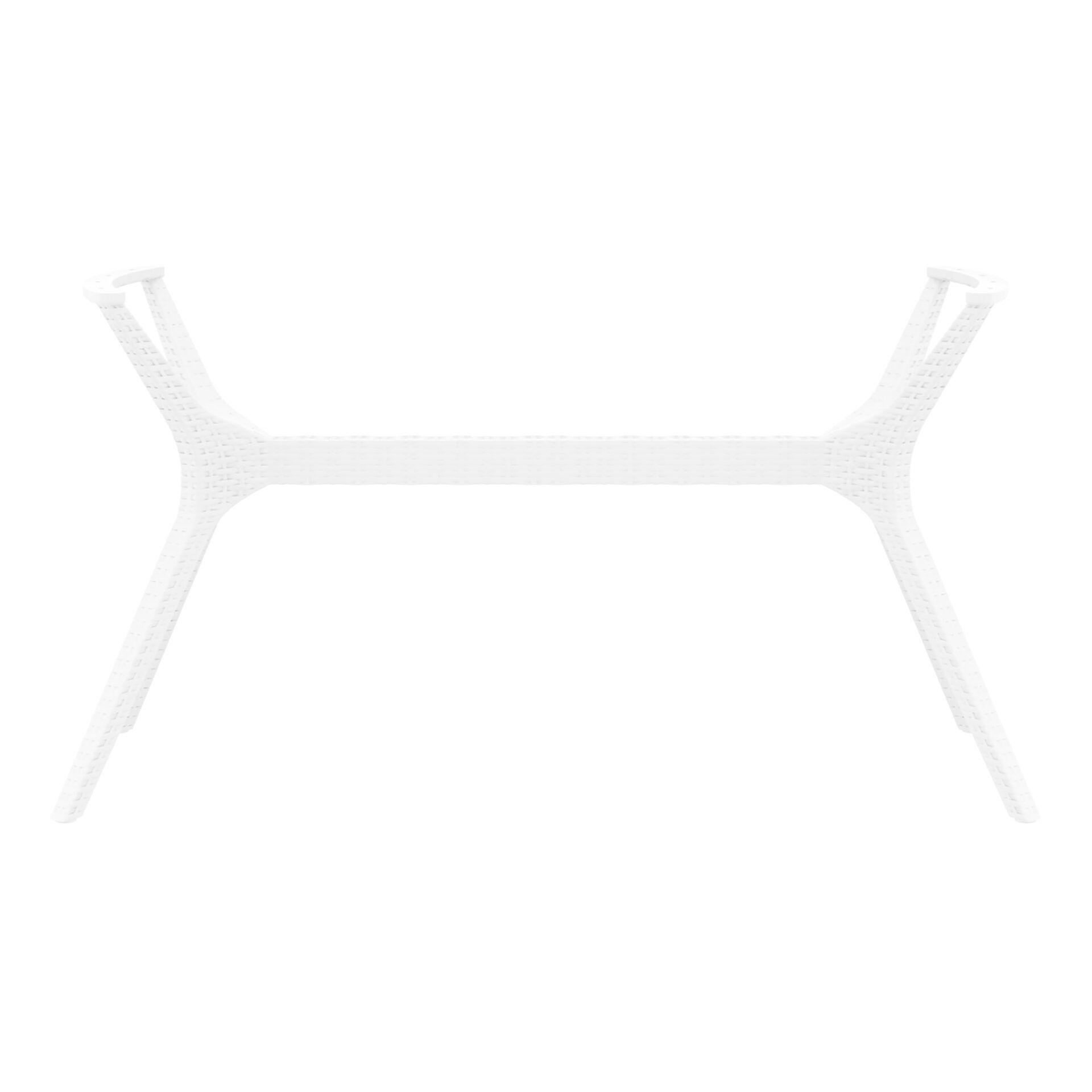 resin rattan ibiza legs xl white long edge