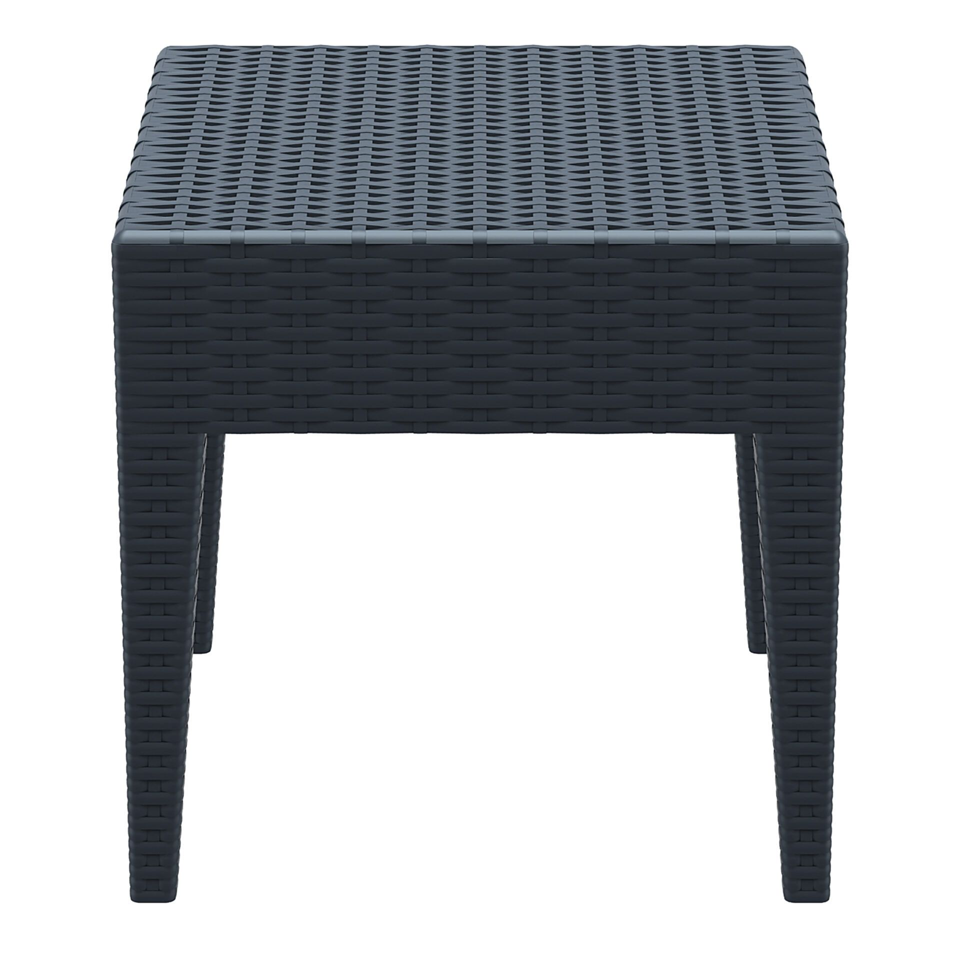 resin rattan miami tequila lounge side table darkgrey side