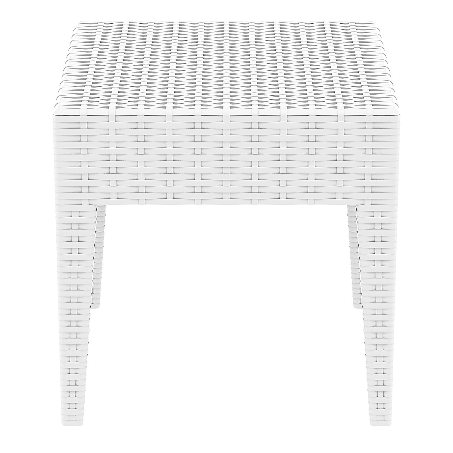 resin rattan miami tequila lounge side table white side