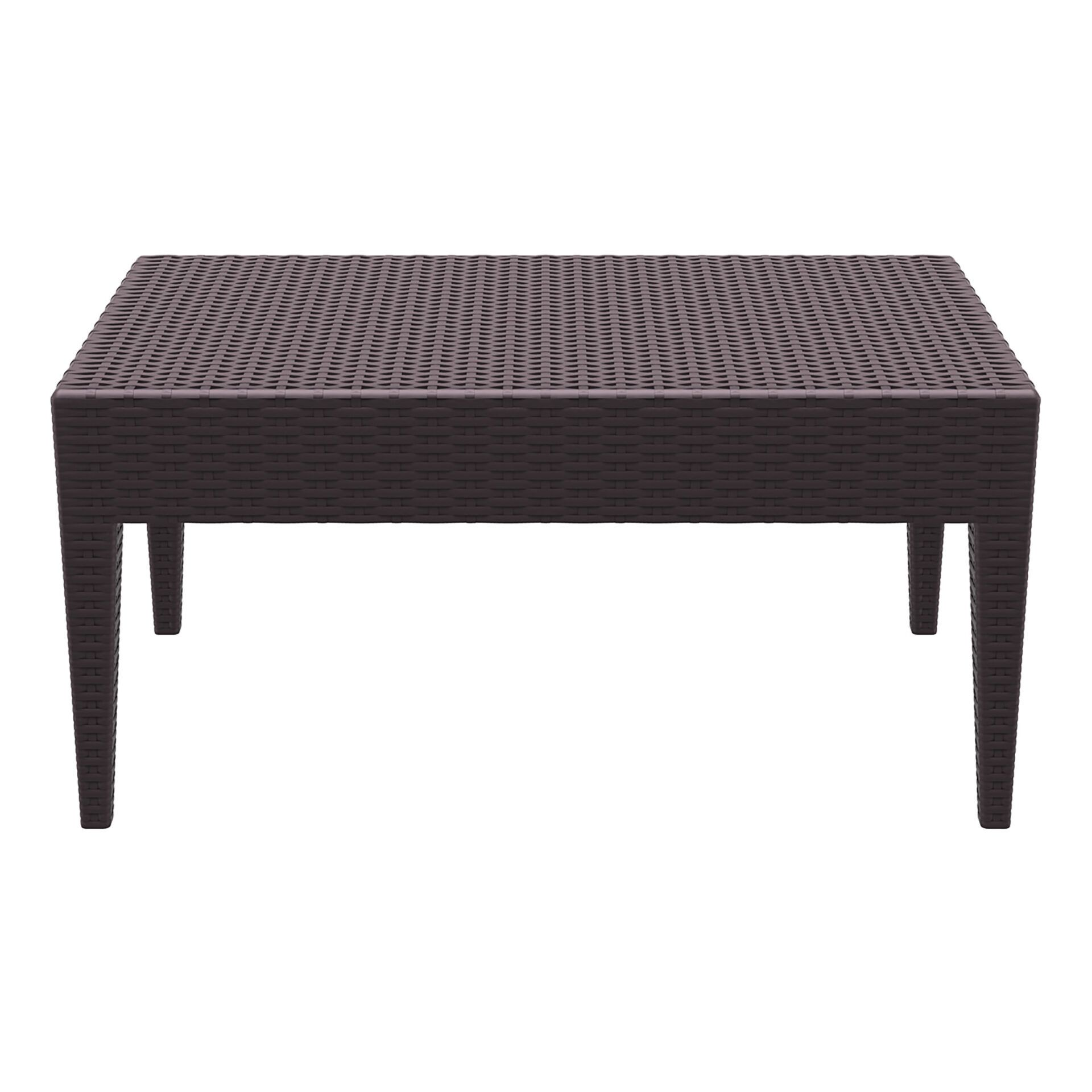 resin rattan miami tequila lounge table brown long edge