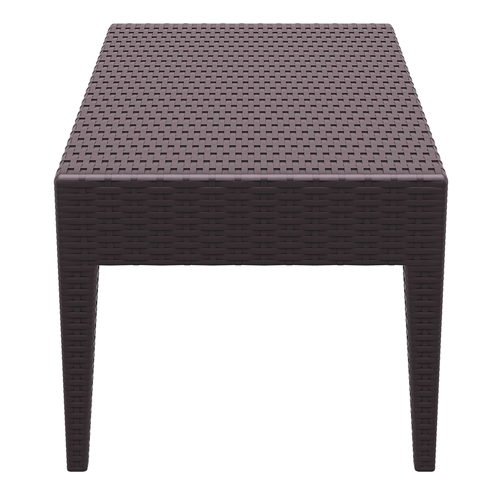 resin rattan miami tequila lounge table brown short edge