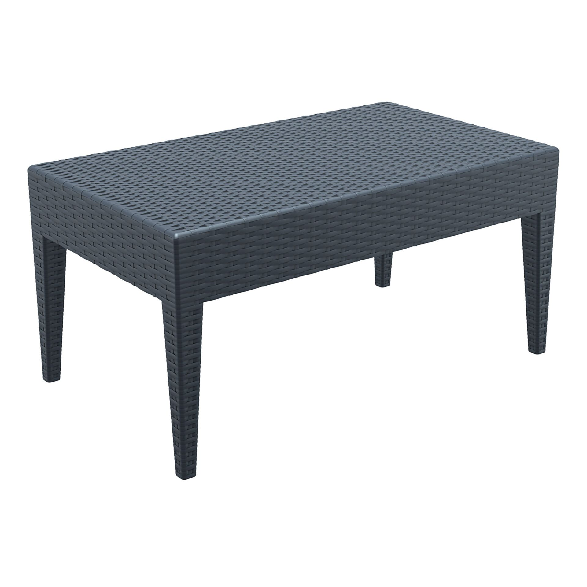 resin rattan miami tequila lounge table darkgrey front side