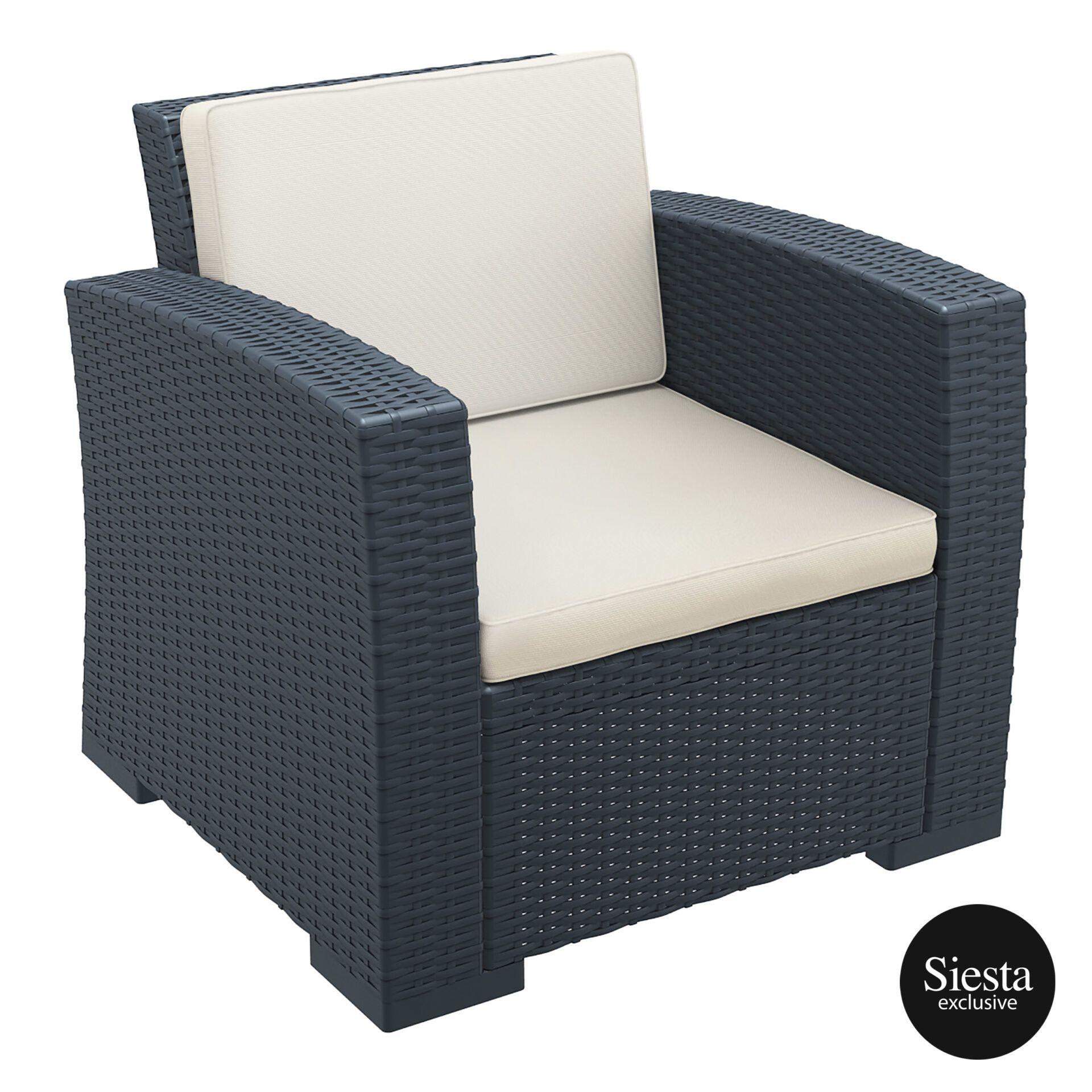 resin rattan monaco armchair cushion 1front side