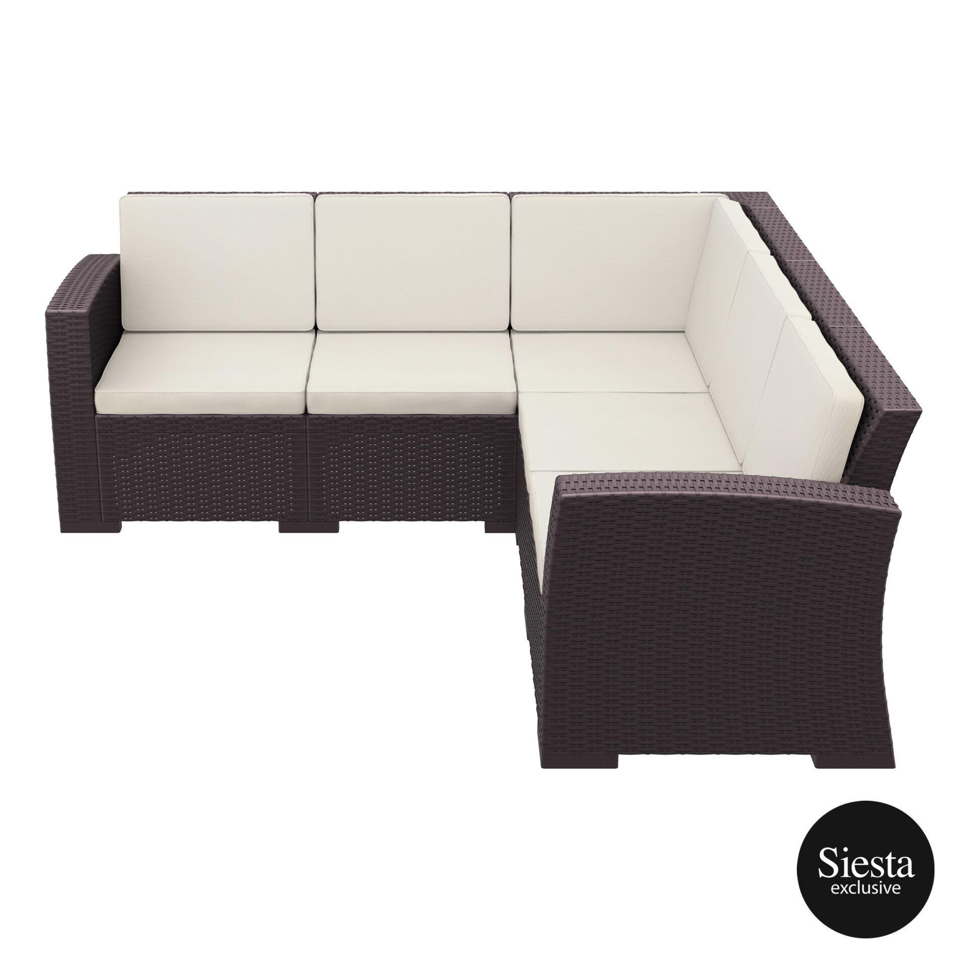 resin rattan monaco corner 3x2 sofa brown side 1