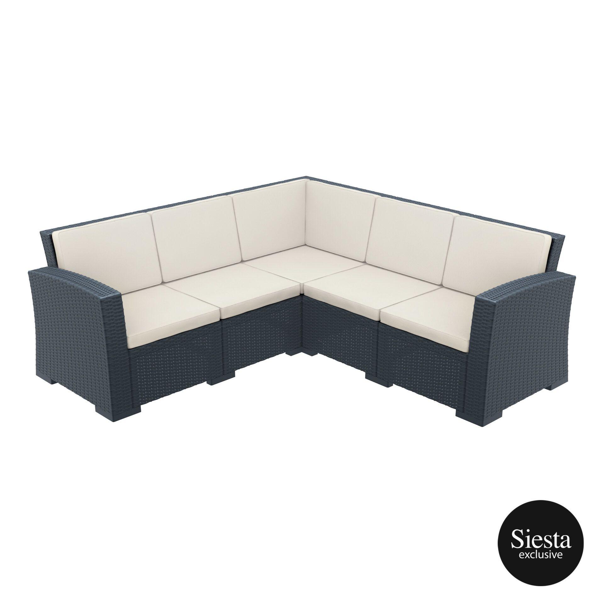 resin rattan monaco corner 3x2 sofa darkgrey front side 1