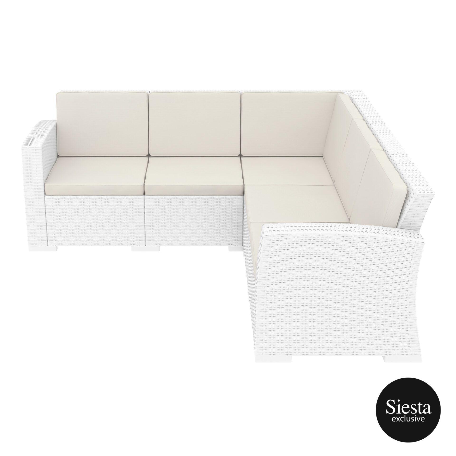 resin rattan monaco corner 3x2 sofa white side 1