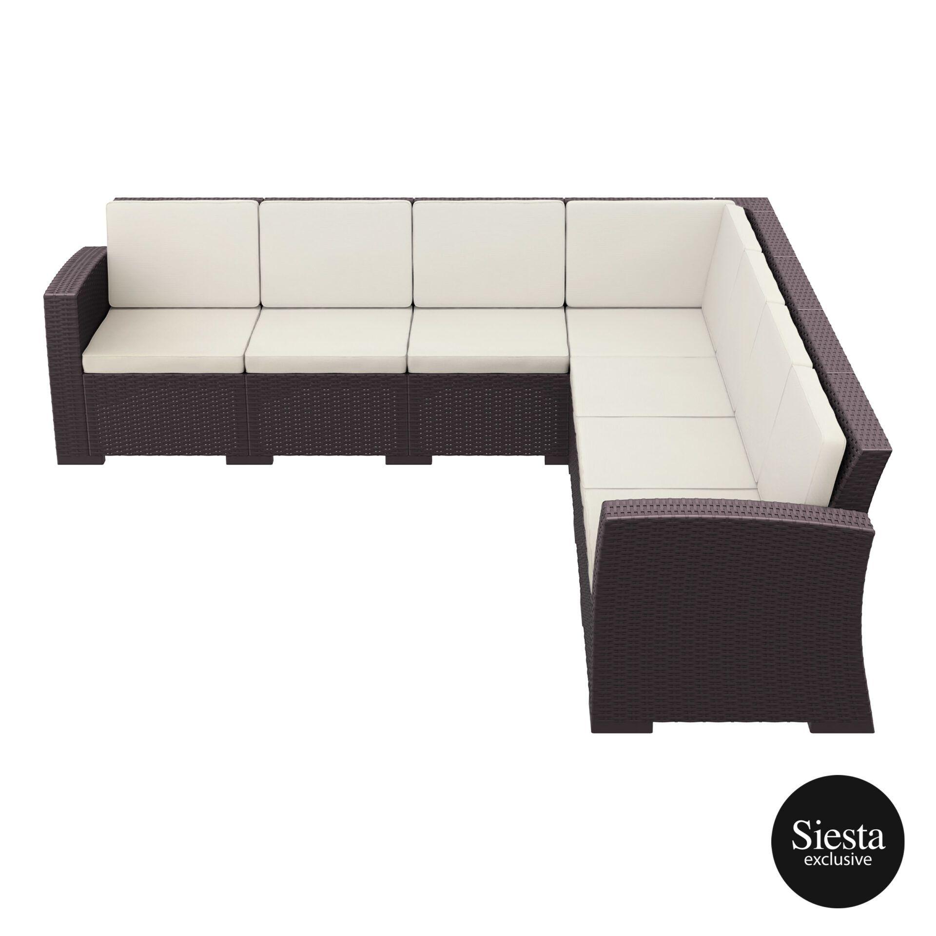 resin rattan monaco corner 4x3 sofa brown side
