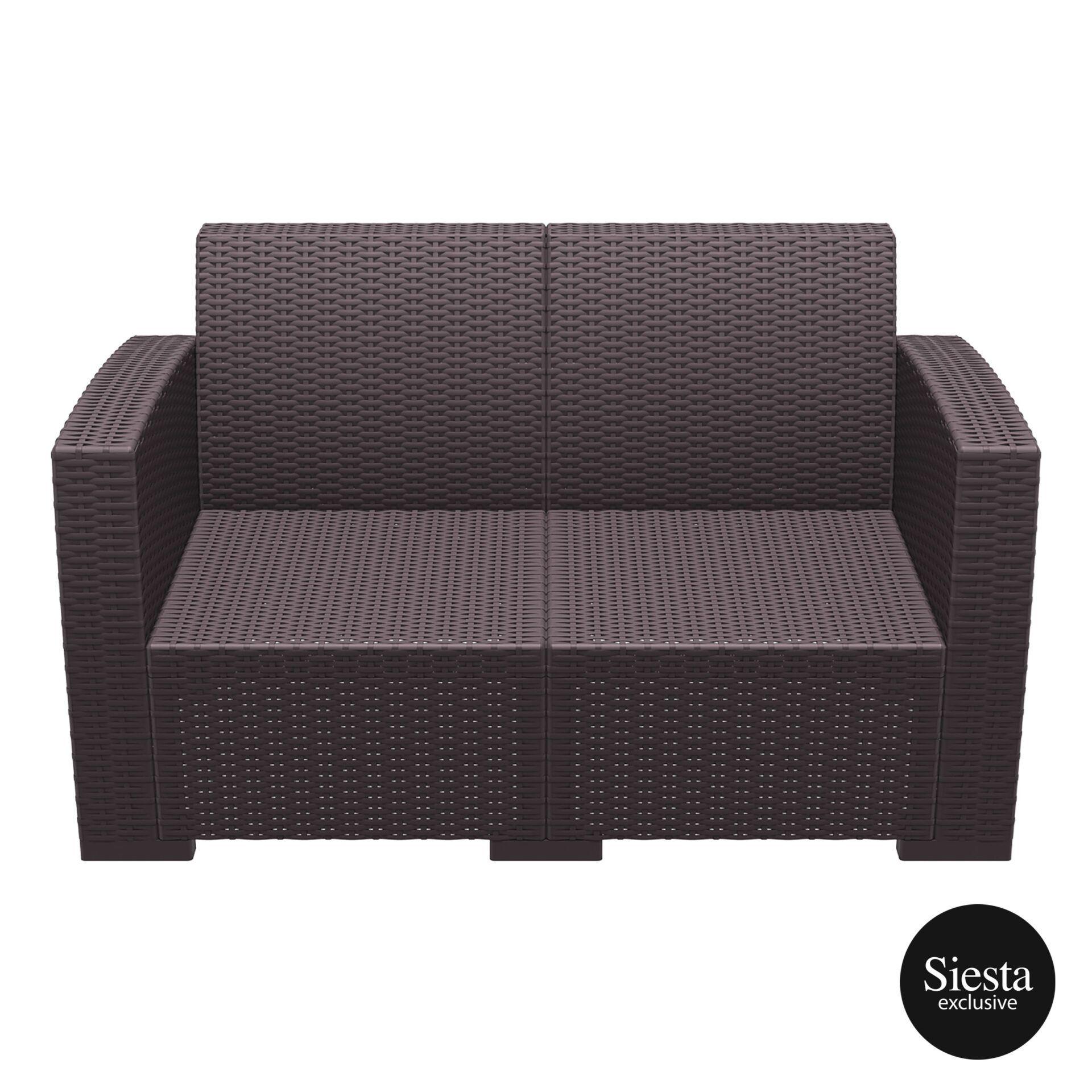 resin rattan monaco lounge sofa brown front