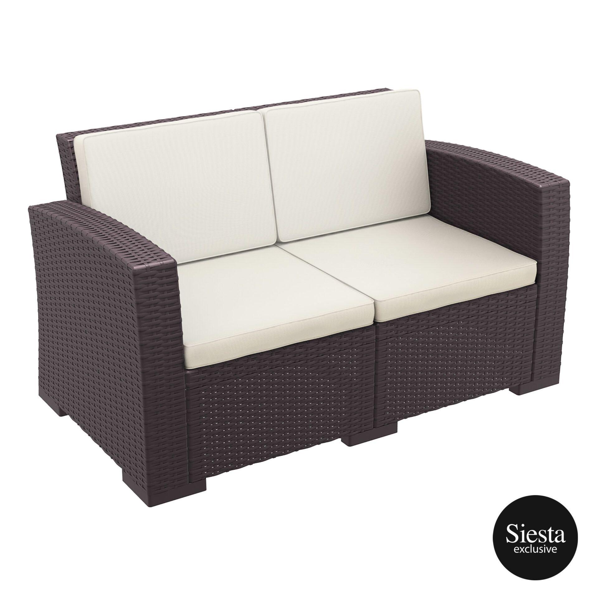 resin rattan monaco lounge sofa cushion front side