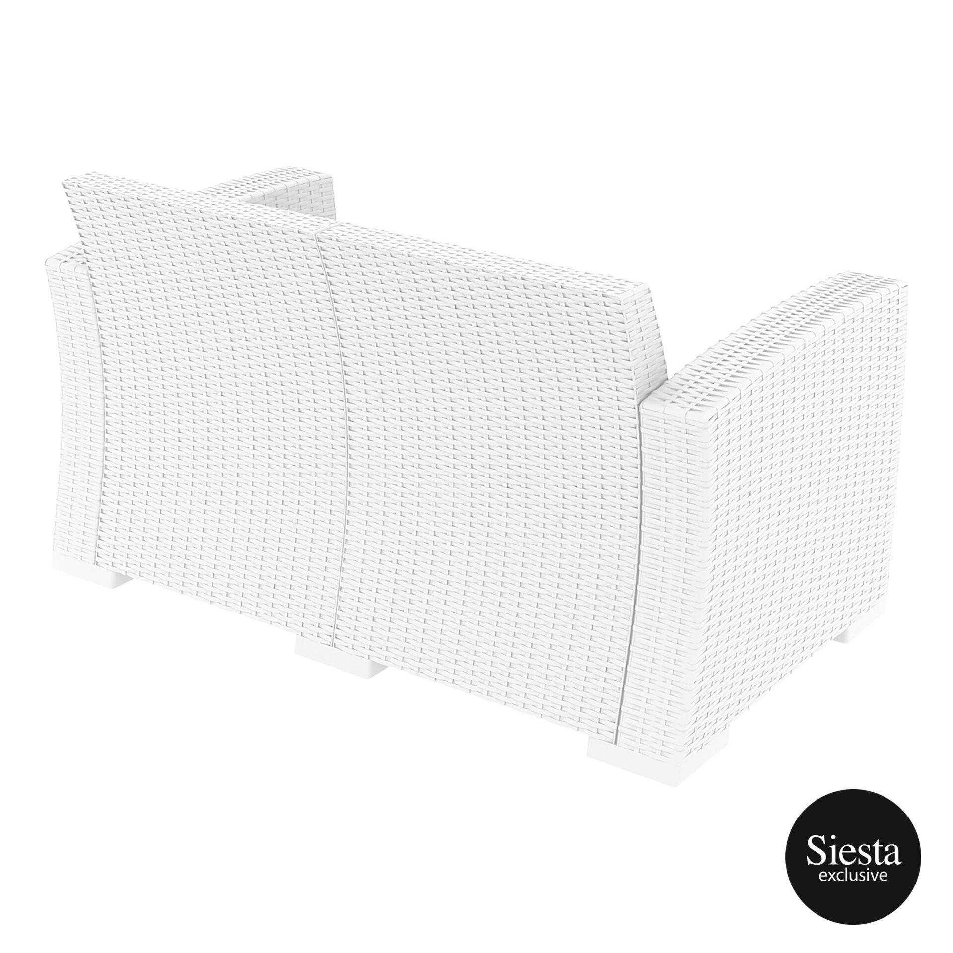 resin rattan monaco lounge sofa white back side