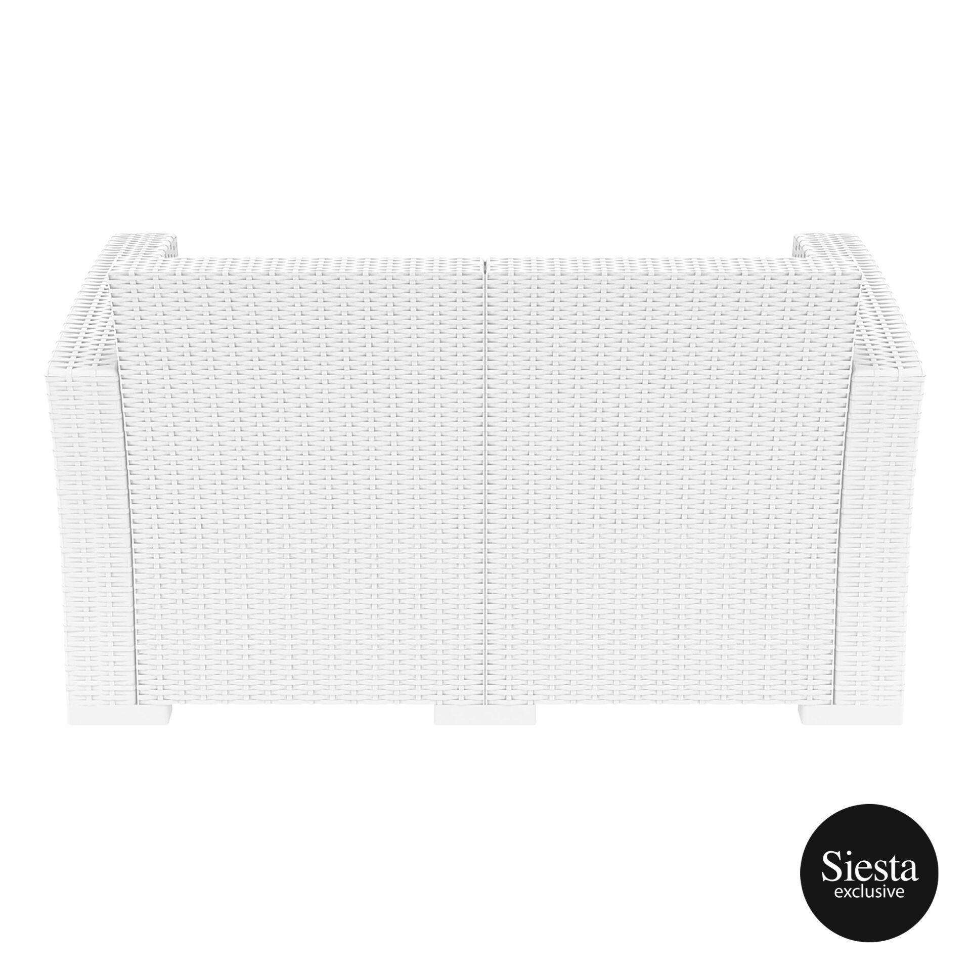 resin rattan monaco lounge sofa white back