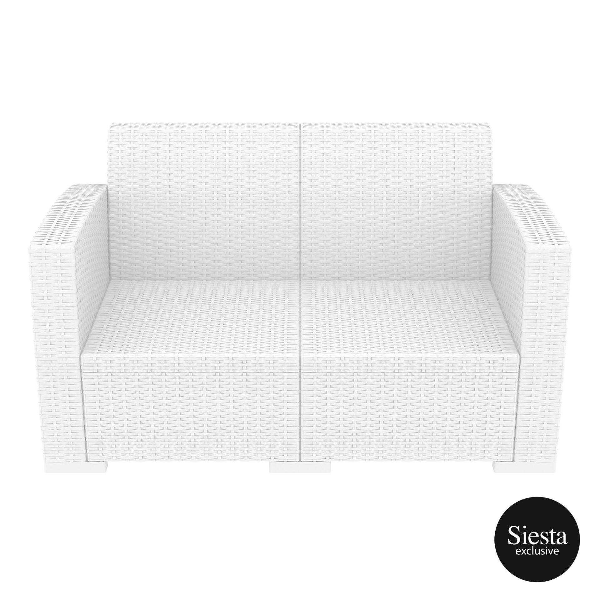 resin rattan monaco lounge sofa white front