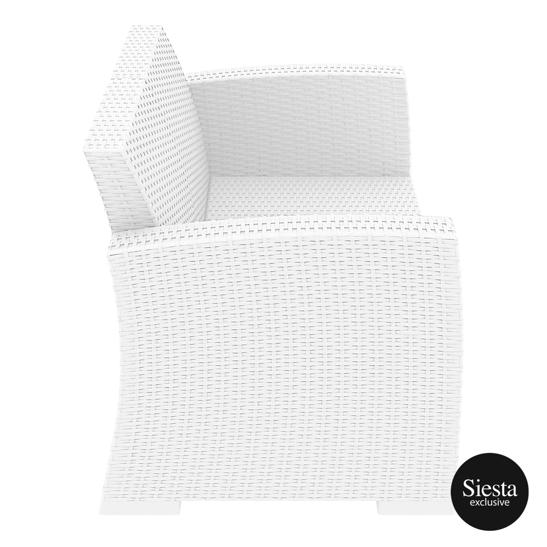 resin rattan monaco lounge sofa white side
