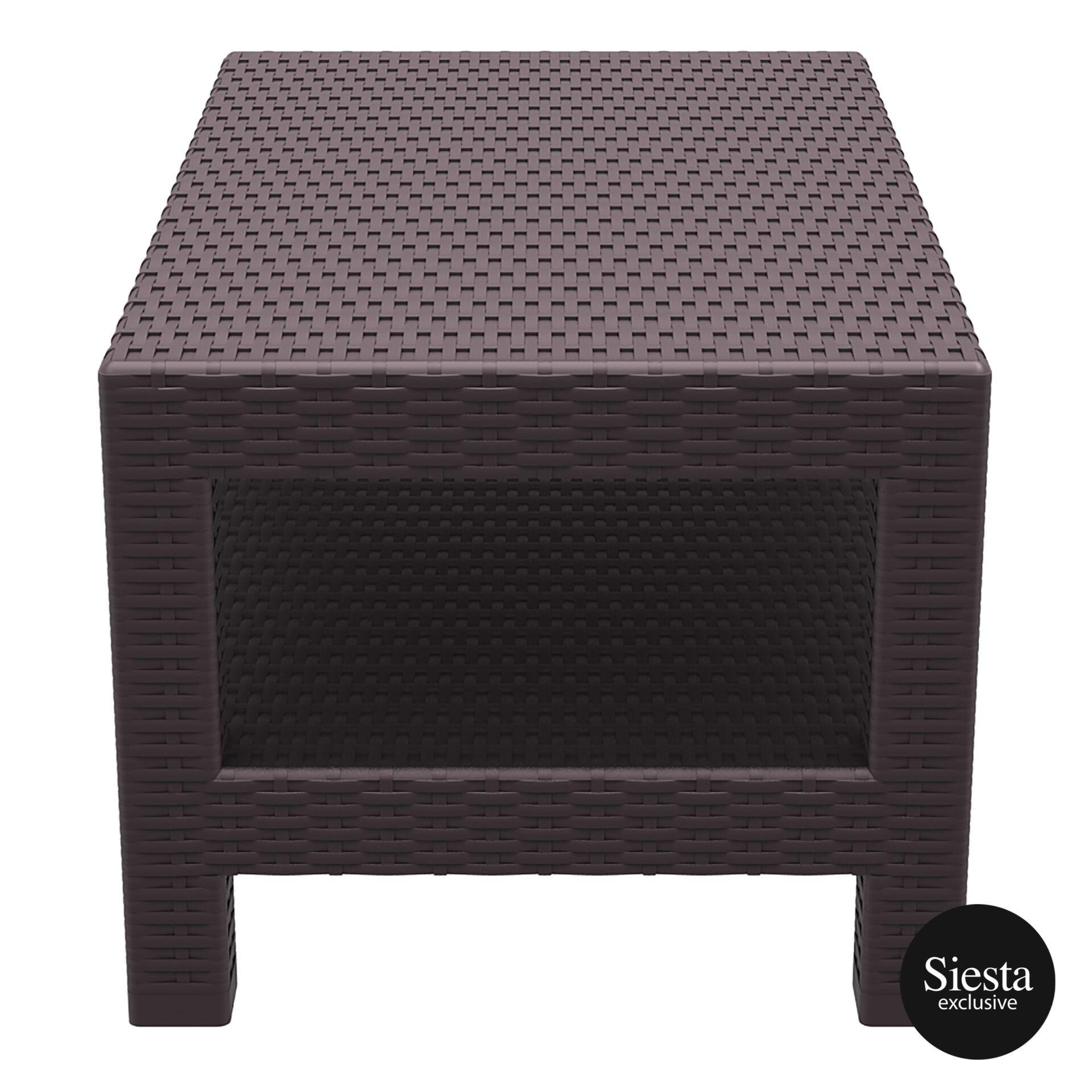 resin rattan monaco lounge table brown short edge 1