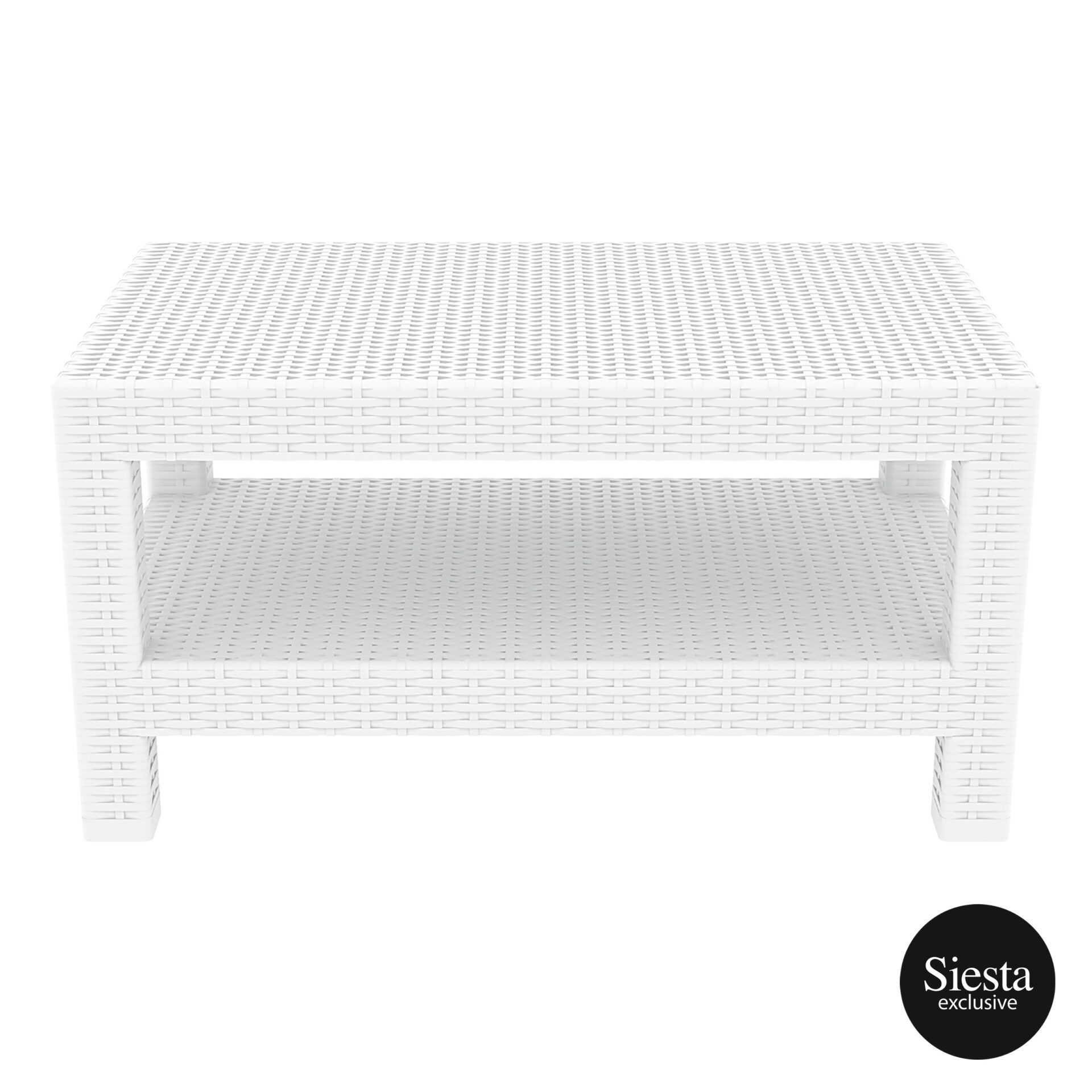 resin rattan monaco lounge table white long edge 1