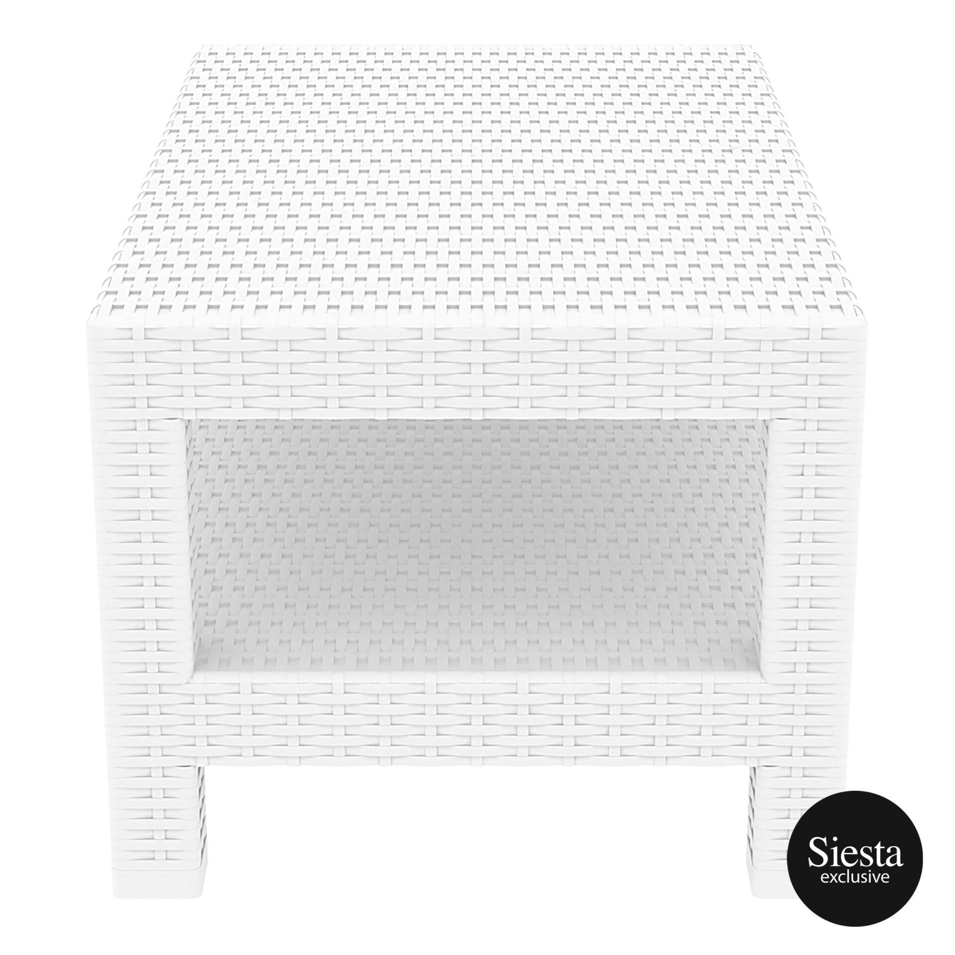 resin rattan monaco lounge table white short edge 1
