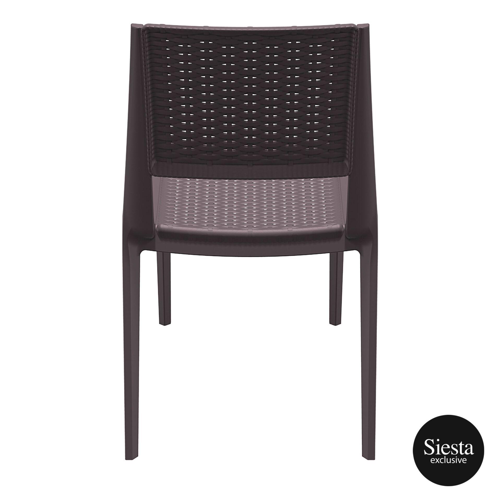 resin rattan outdoor cafe verona chair brown back 1