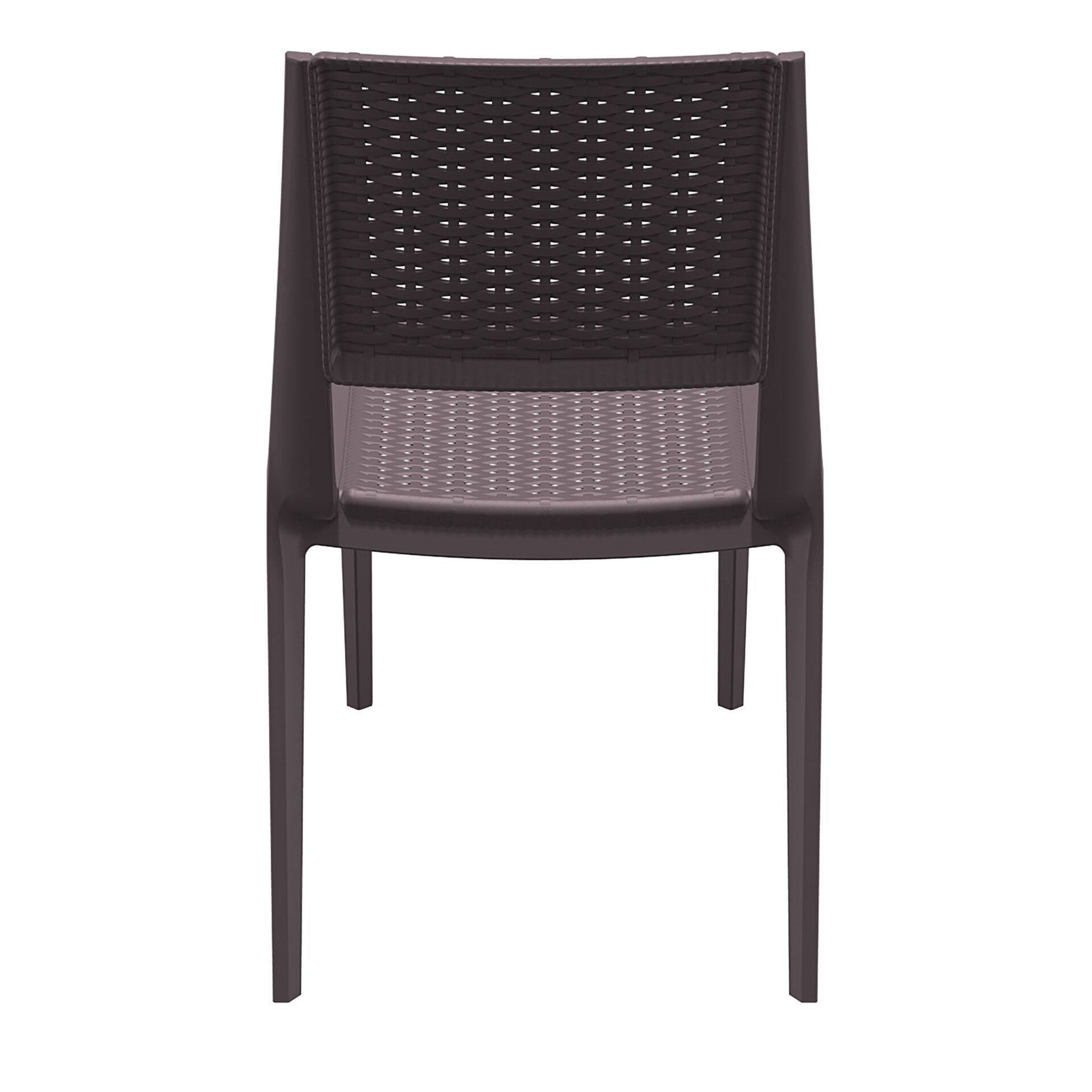 resin rattan outdoor cafe verona chair brown back