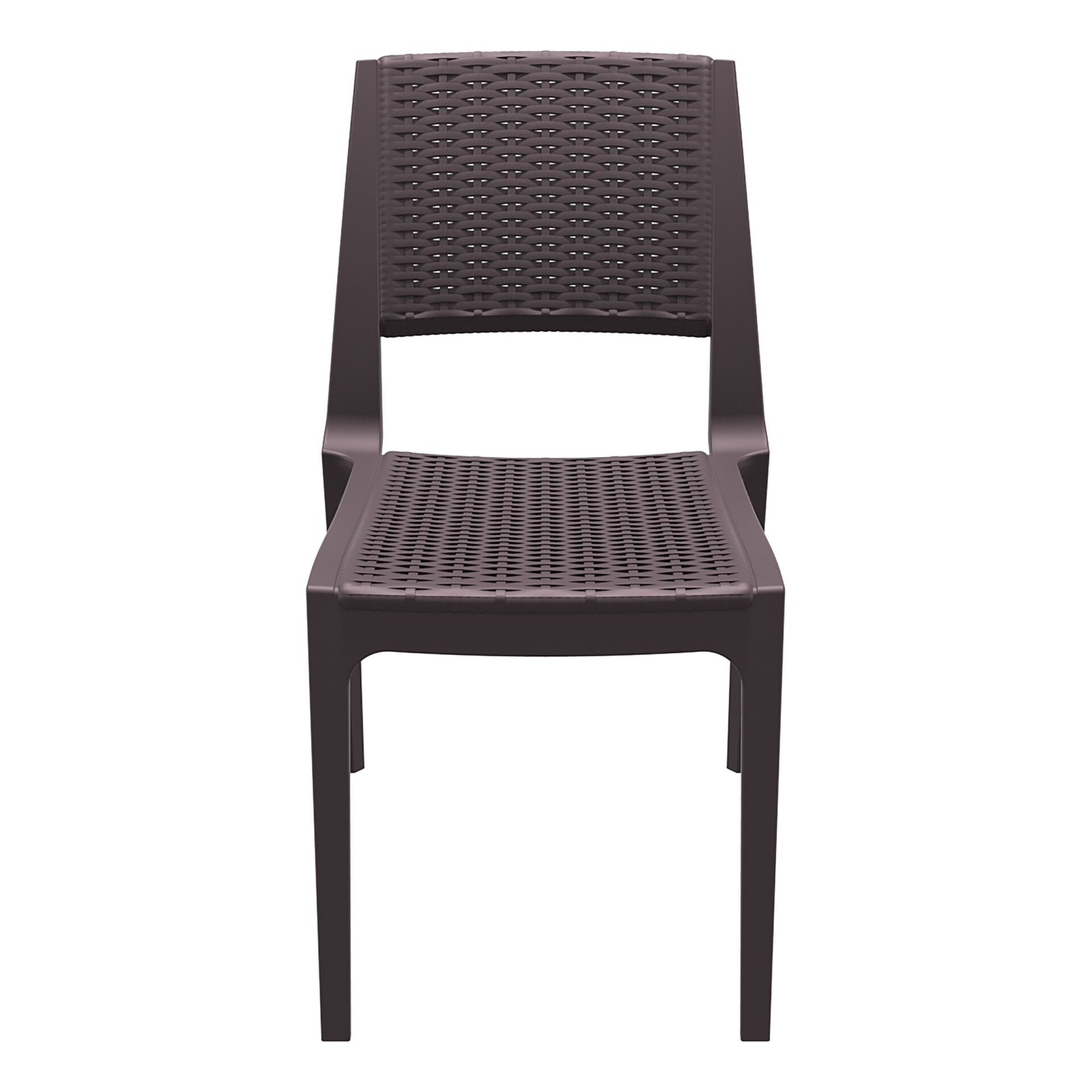 resin rattan outdoor cafe verona chair brown front