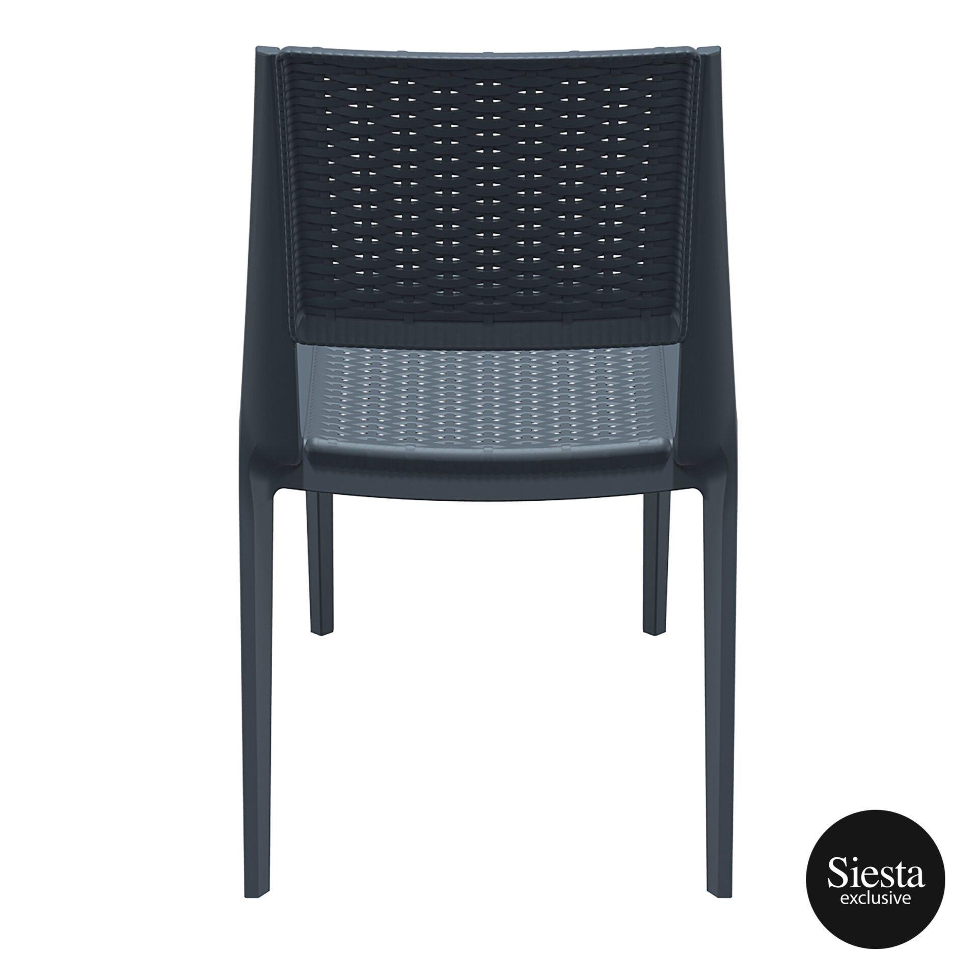 resin rattan outdoor cafe verona chair darkgrey back 1