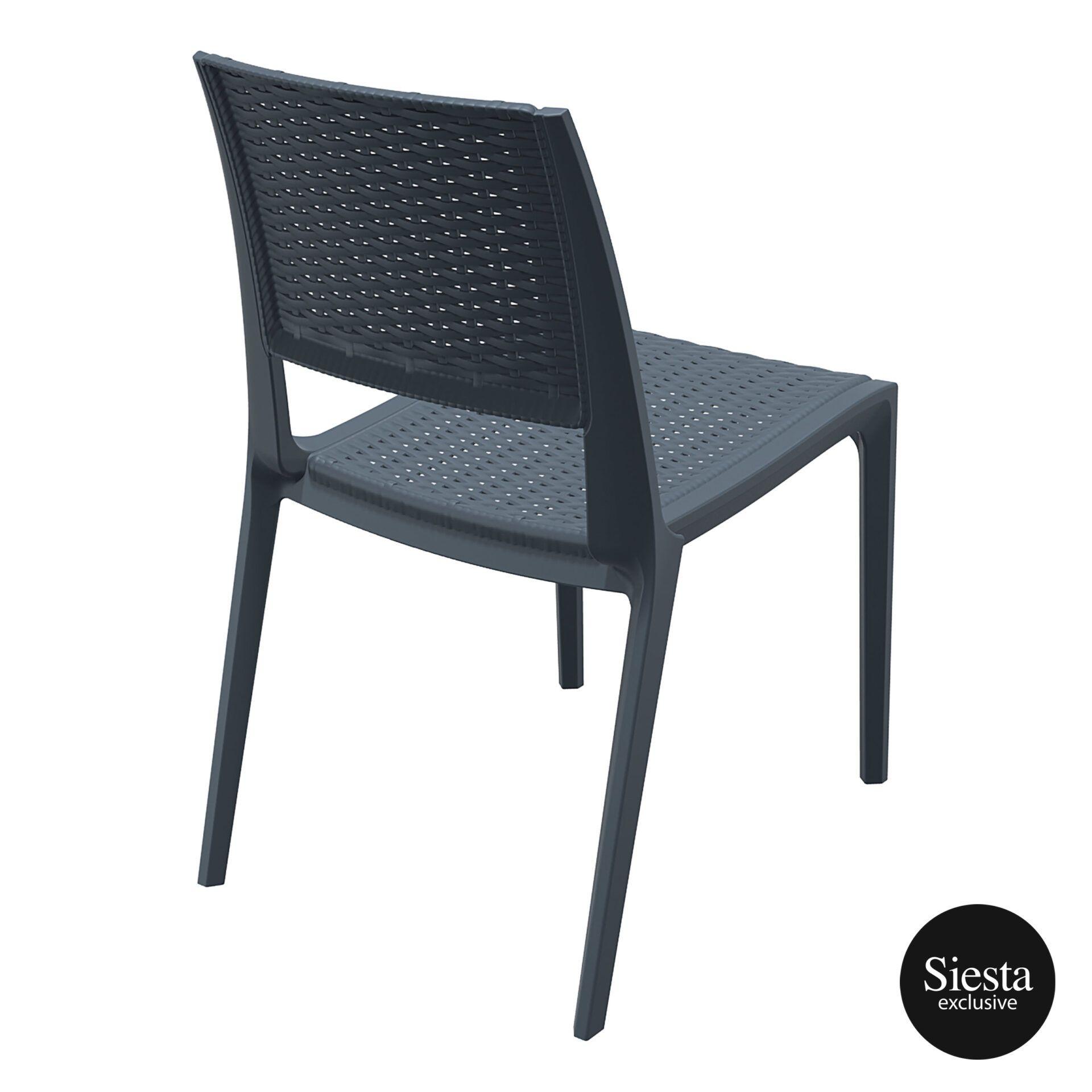 resin rattan outdoor cafe verona chair darkgrey back side 1