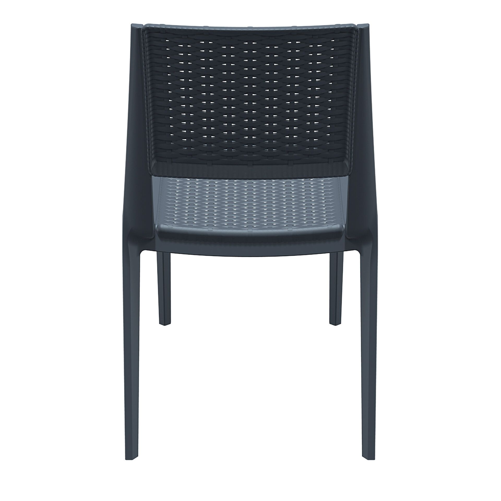 resin rattan outdoor cafe verona chair darkgrey back
