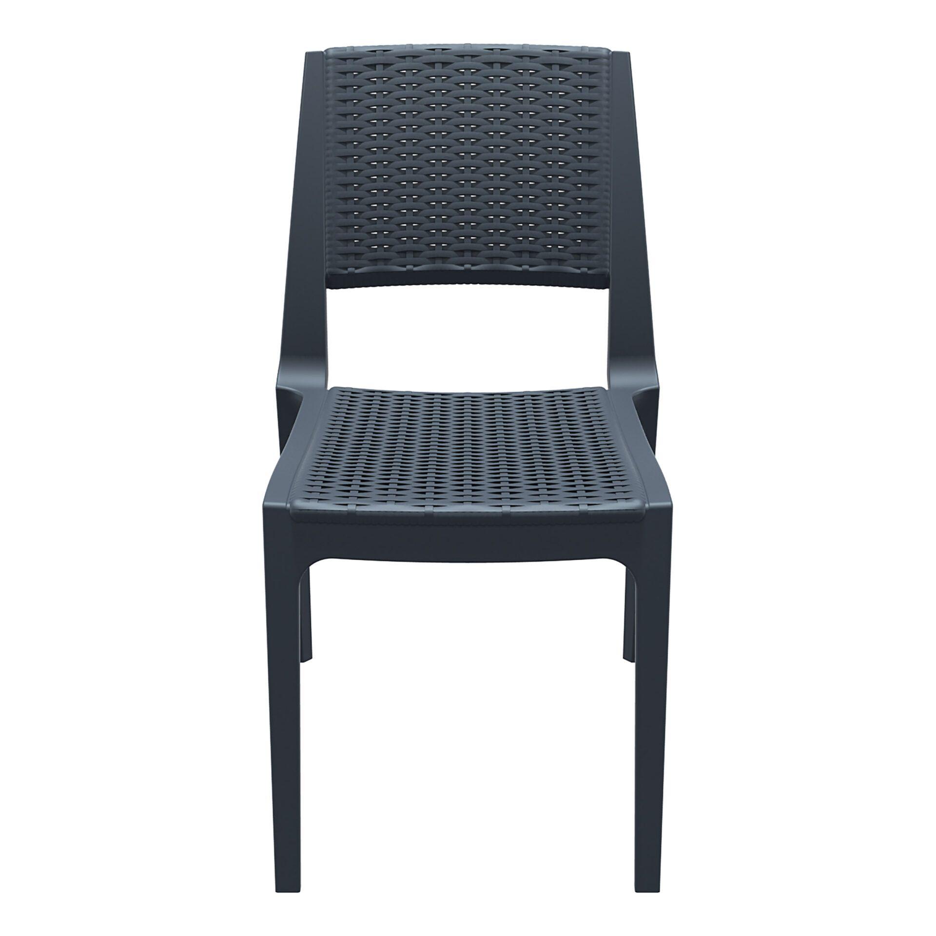 resin rattan outdoor cafe verona chair darkgrey front