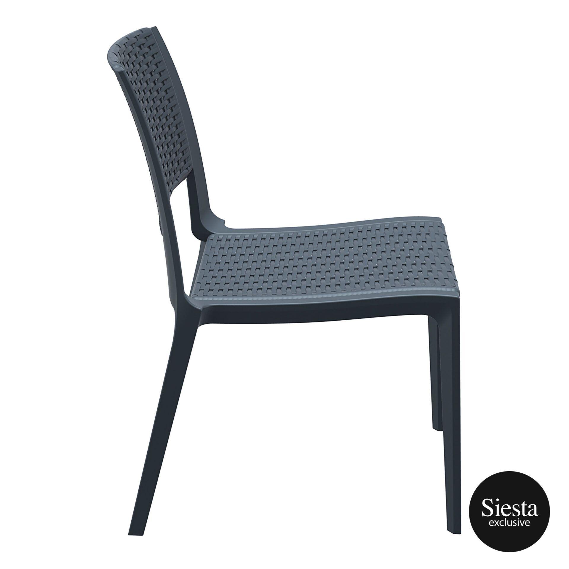 resin rattan outdoor cafe verona chair darkgrey side 1