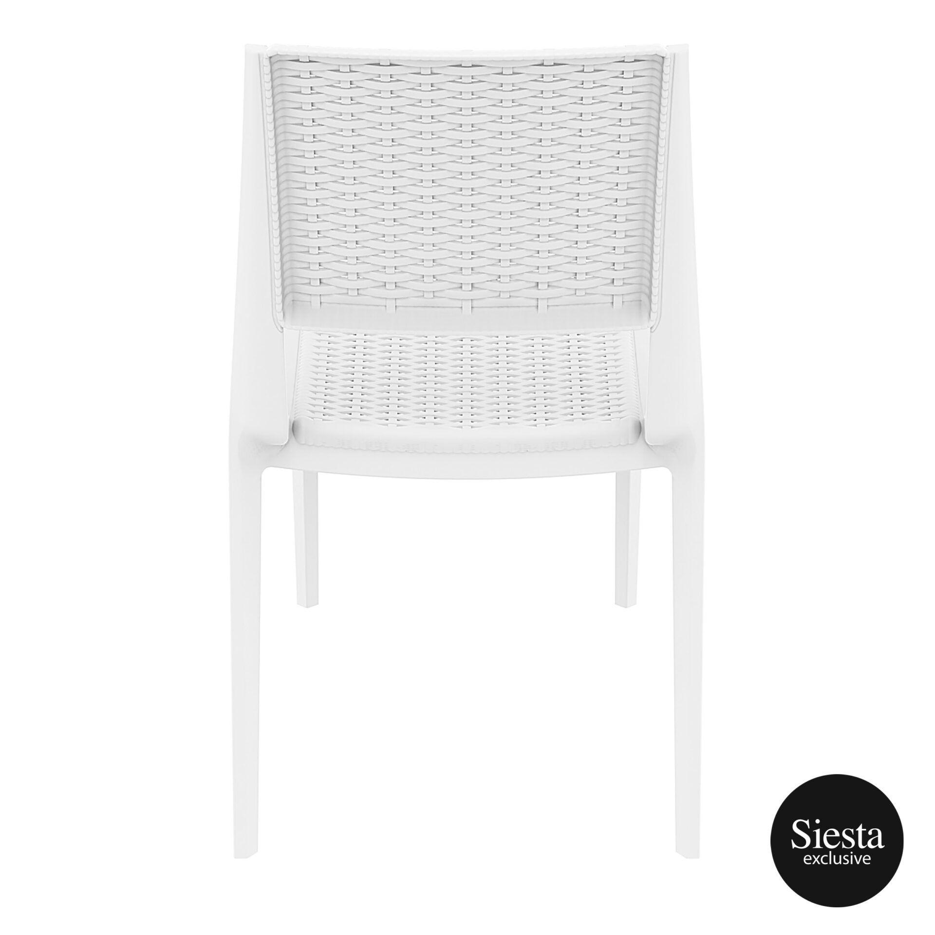 resin rattan outdoor cafe verona chair white back 1