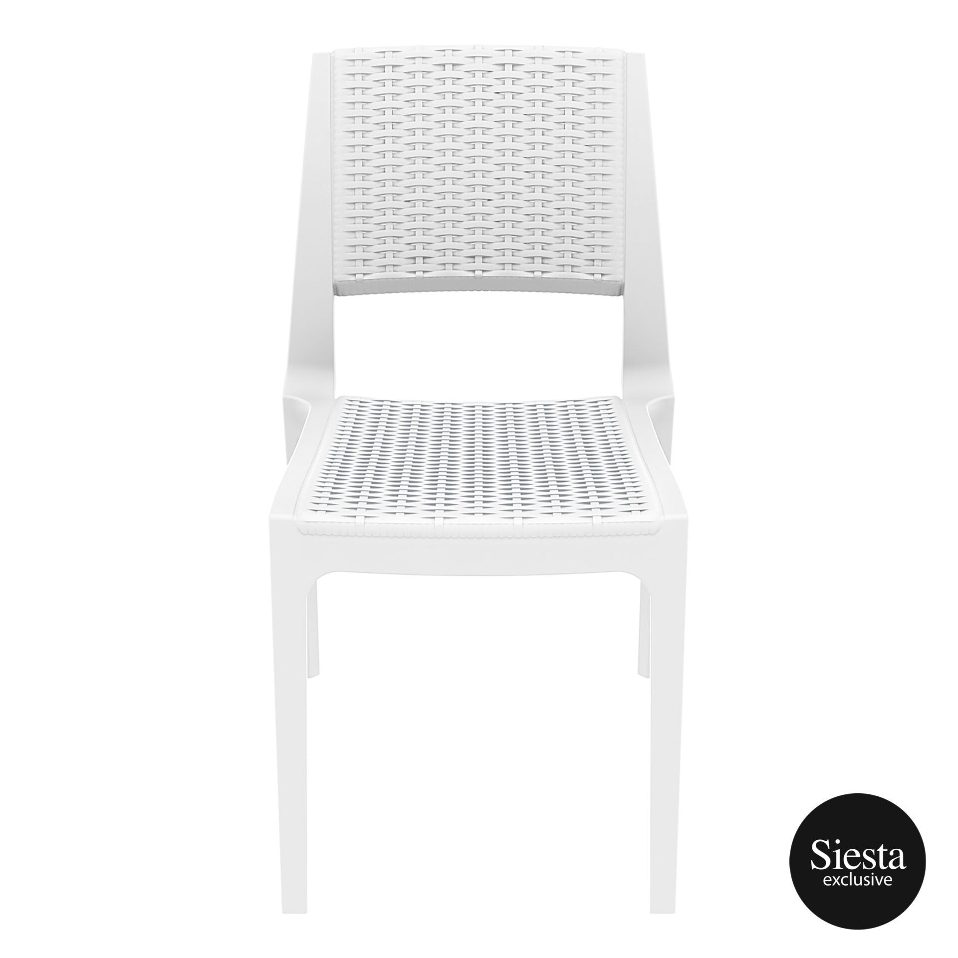 resin rattan outdoor cafe verona chair white front 1