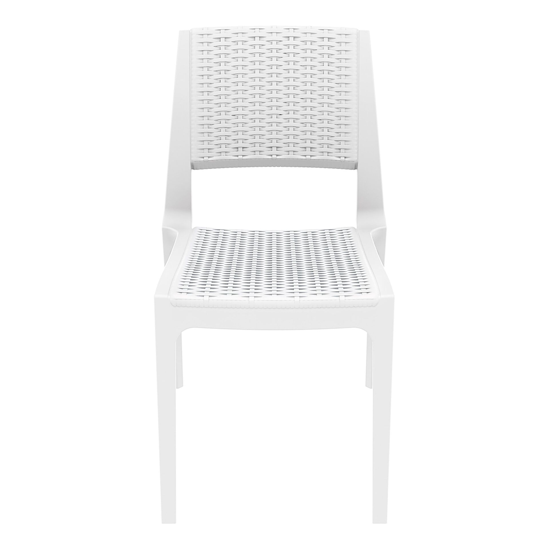 resin rattan outdoor cafe verona chair white front