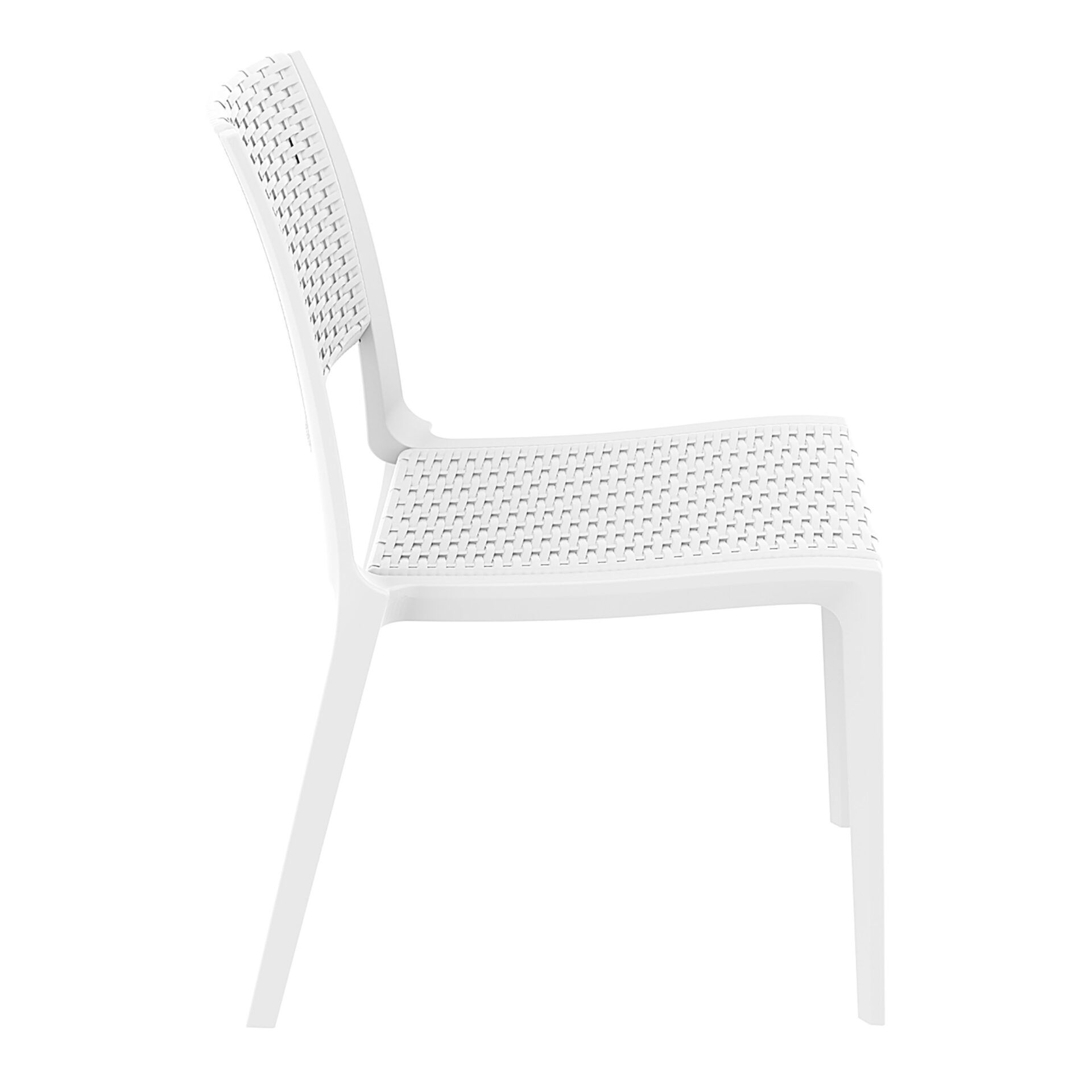 resin rattan outdoor cafe verona chair white side