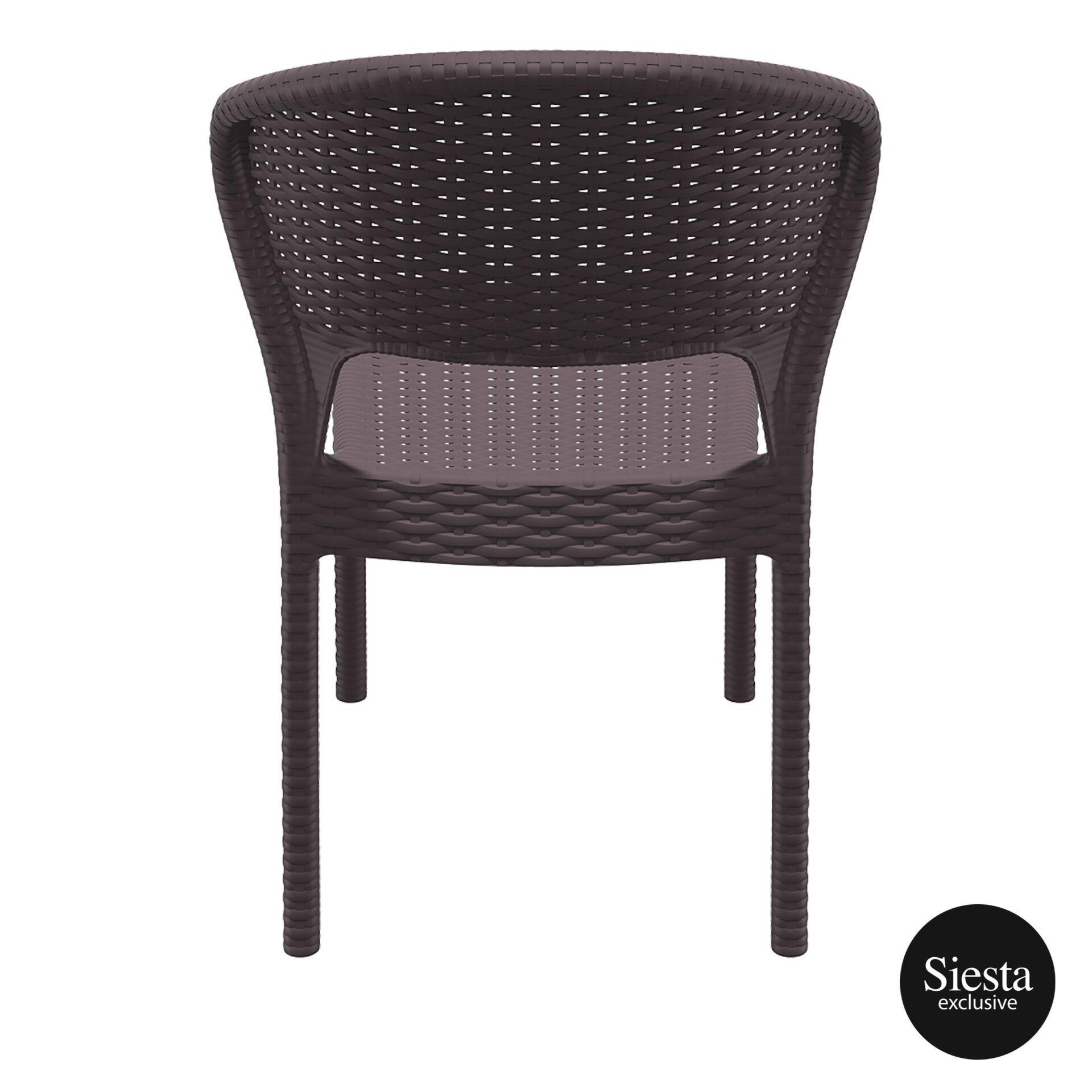 resin rattan outdoor daytona chair brown back 1