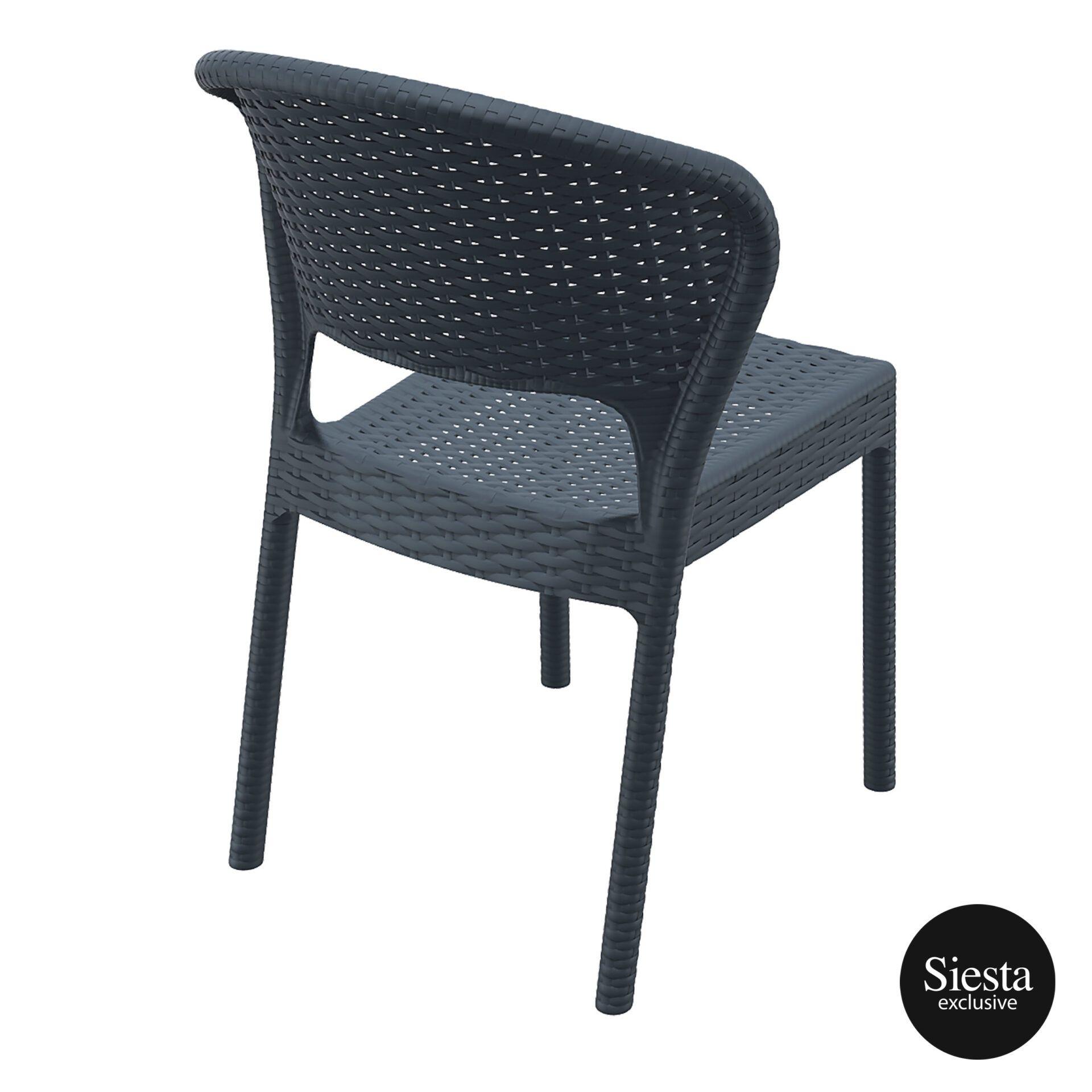resin rattan outdoor daytona chair darkgrey back side 1