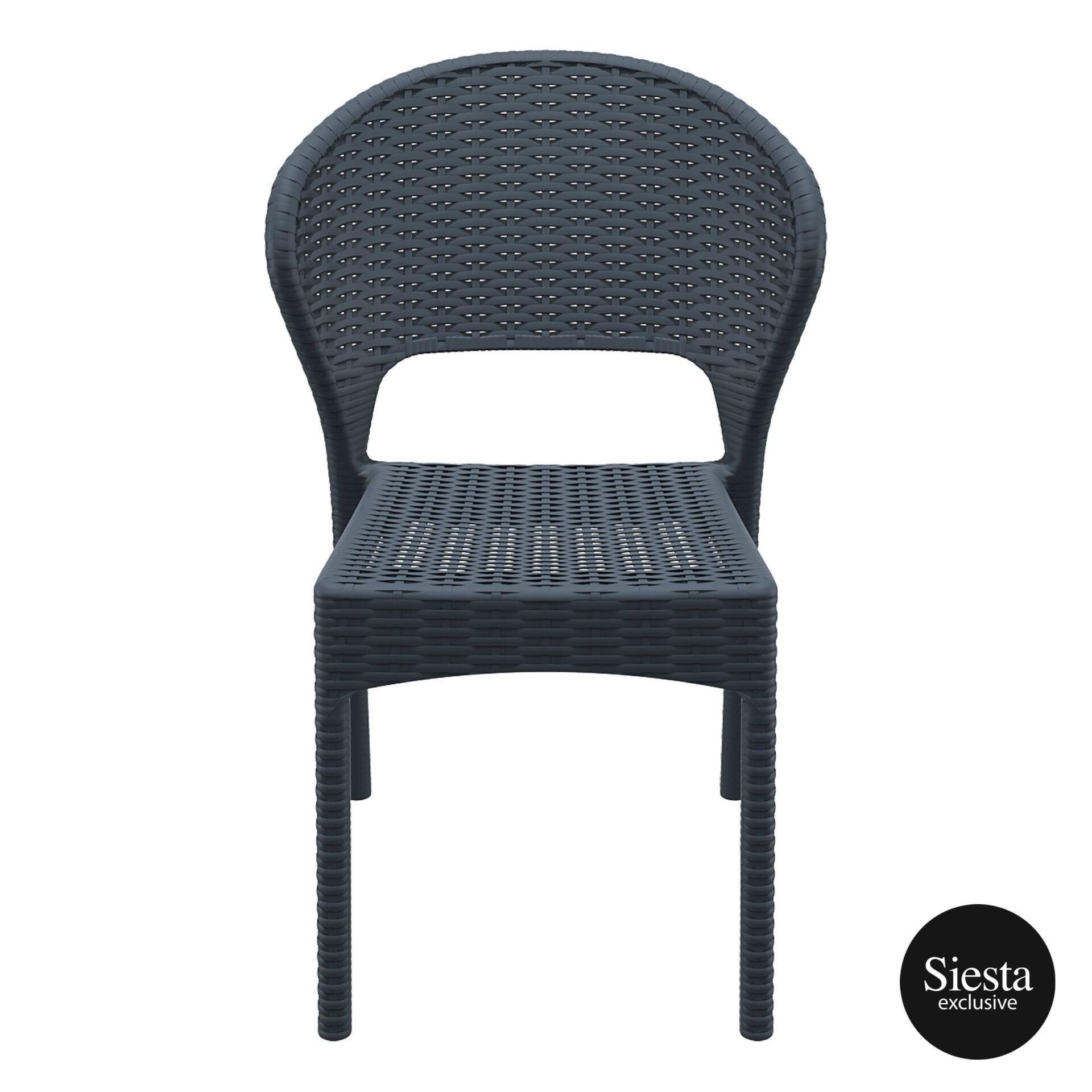 resin rattan outdoor daytona chair darkgrey front 1