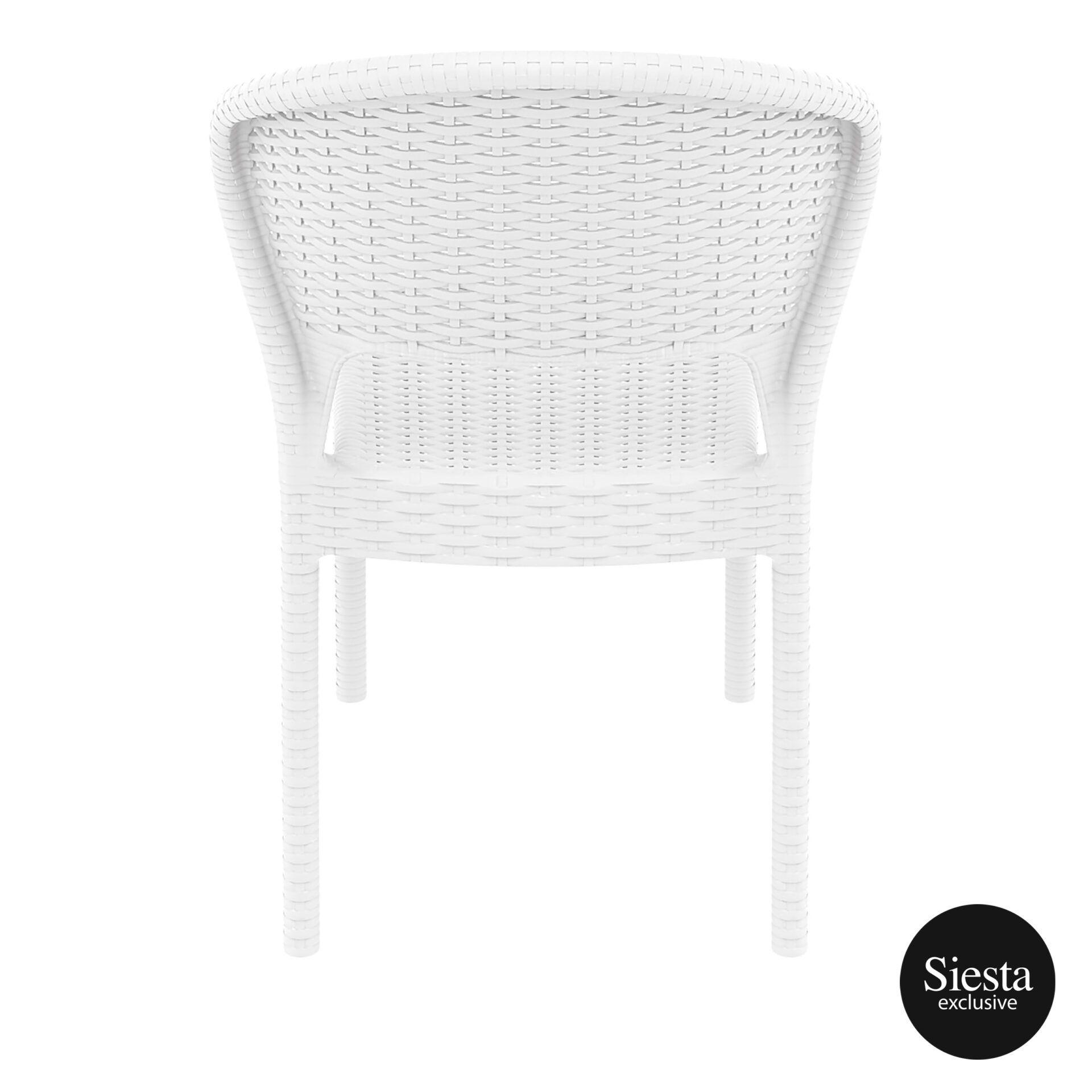resin rattan outdoor daytona chair white back 1