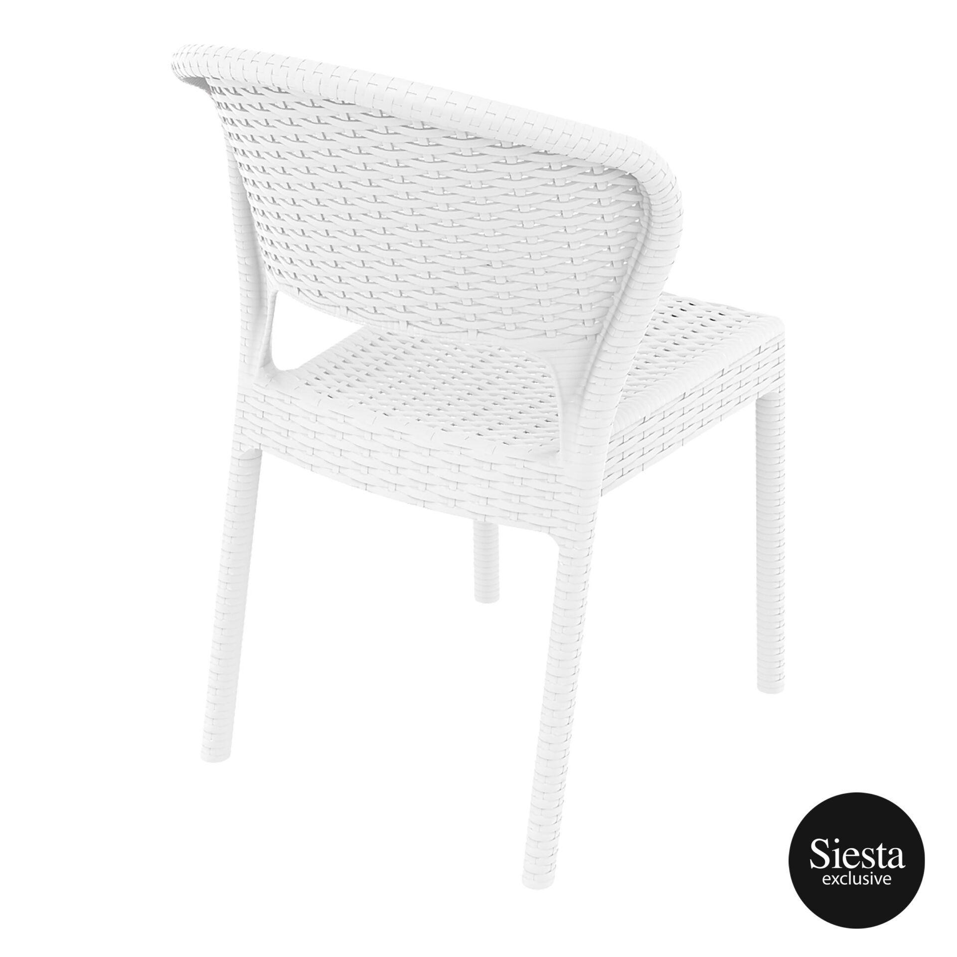 resin rattan outdoor daytona chair white back side 1