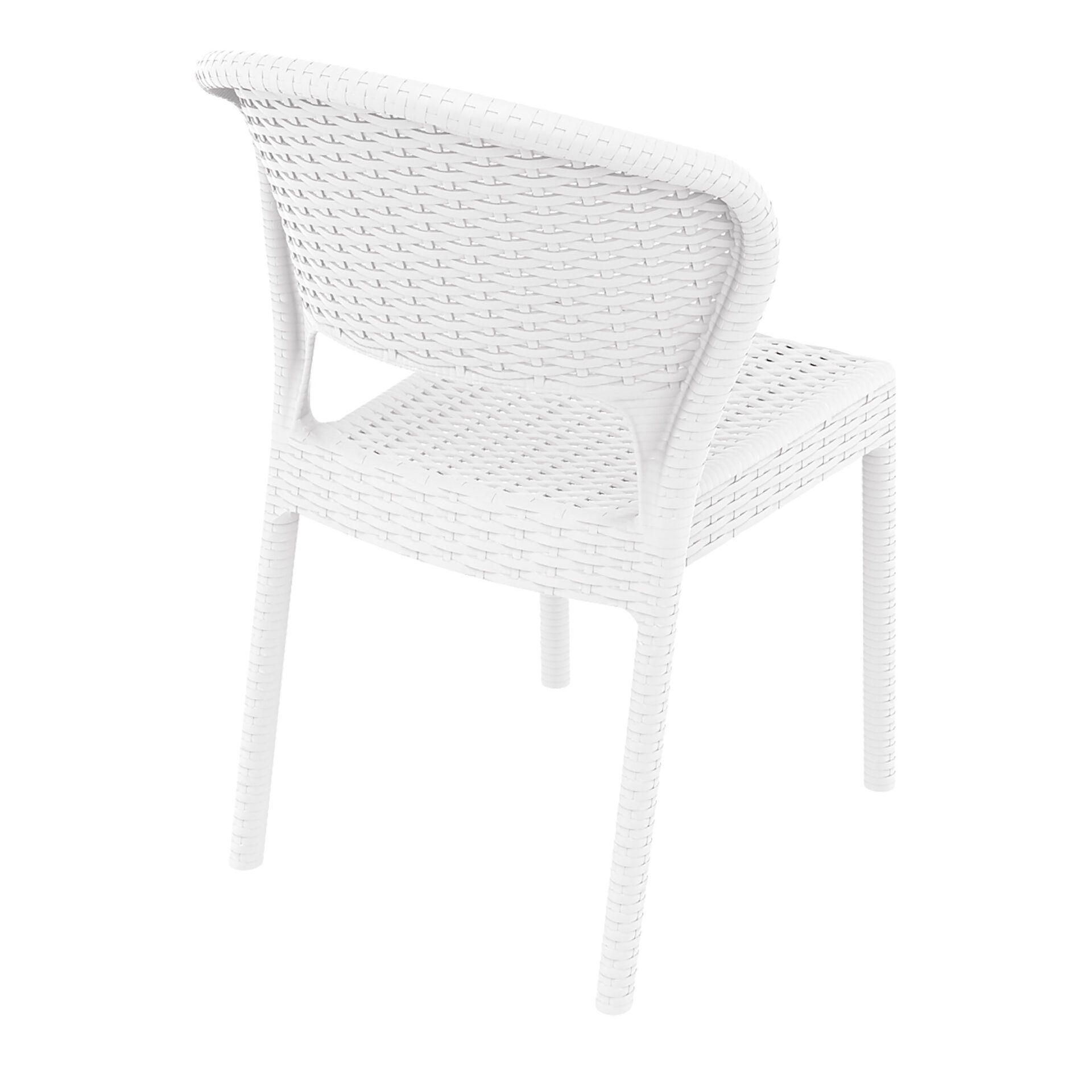 resin rattan outdoor daytona chair white back side