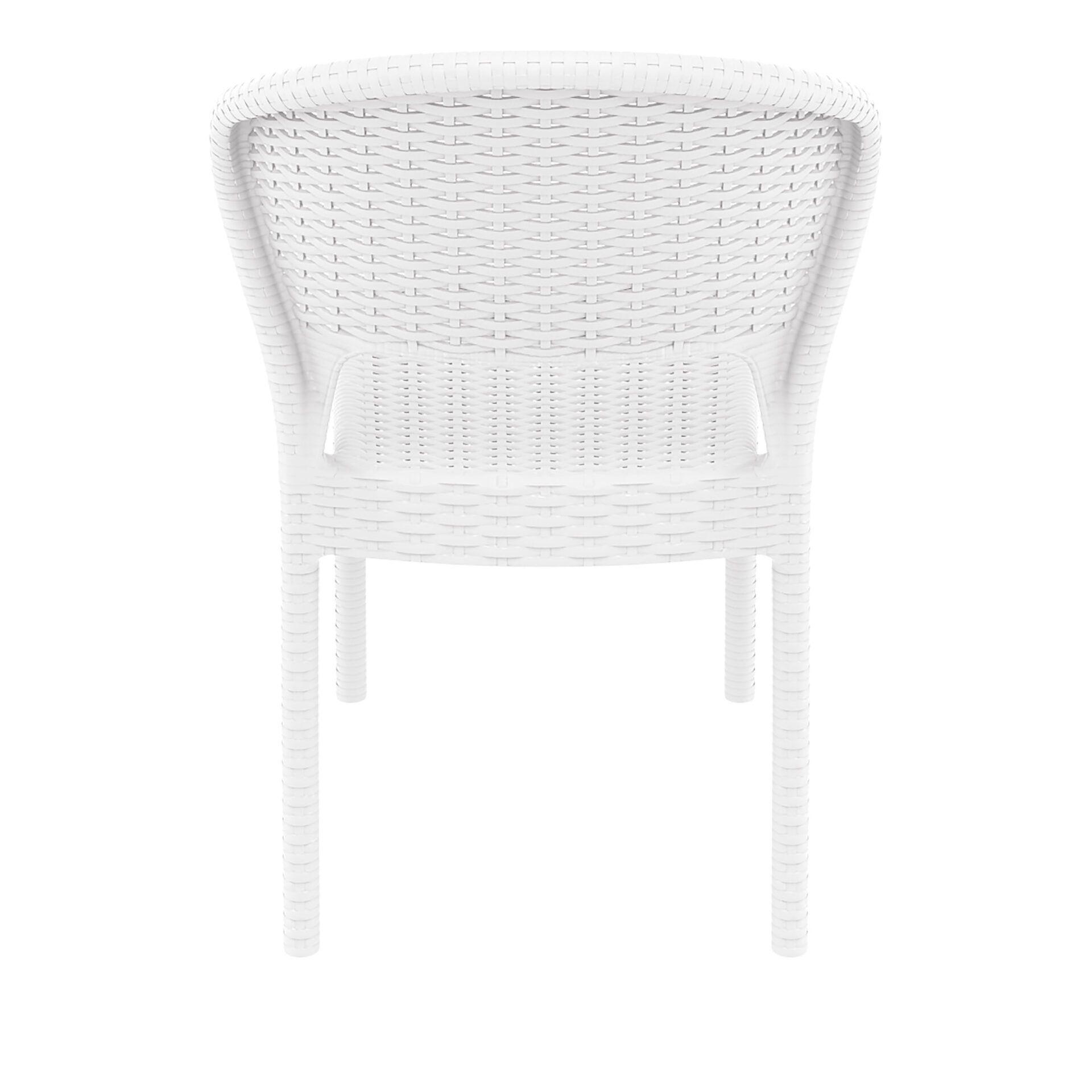 resin rattan outdoor daytona chair white back