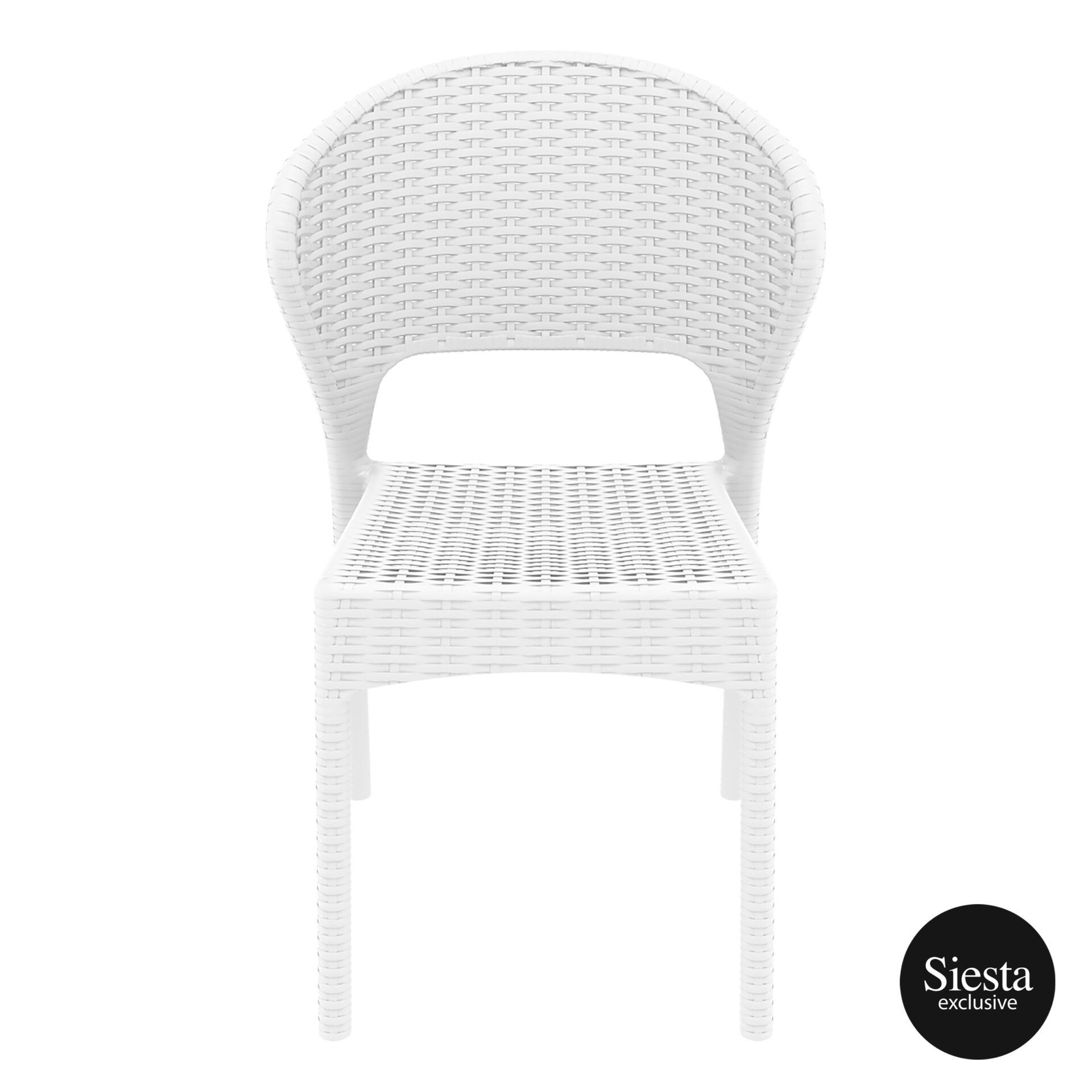 resin rattan outdoor daytona chair white front 1