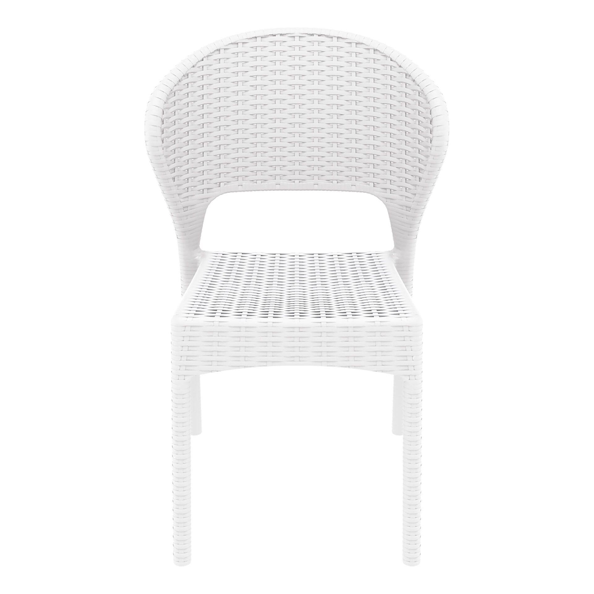 resin rattan outdoor daytona chair white front