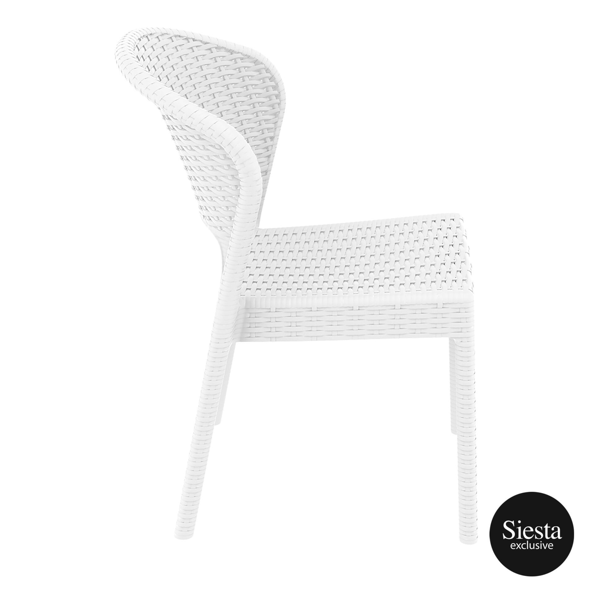 resin rattan outdoor daytona chair white side 1