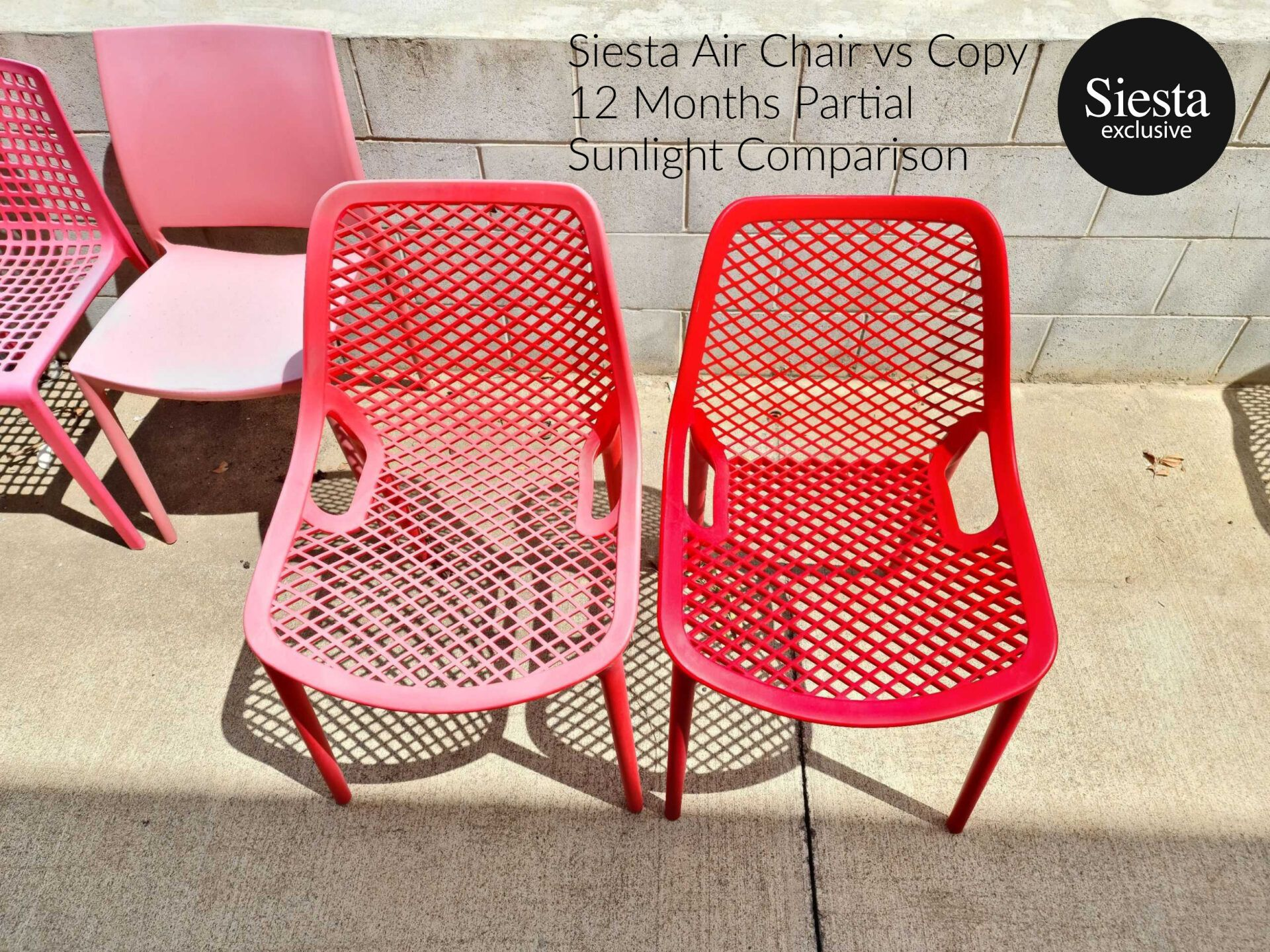 siesta air chair genuine vs copy and replica partial sunlight comparison 12 months 1.1 1